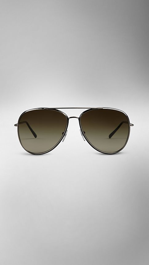 Nickel Metal Aviator Sunglasses - Image 2