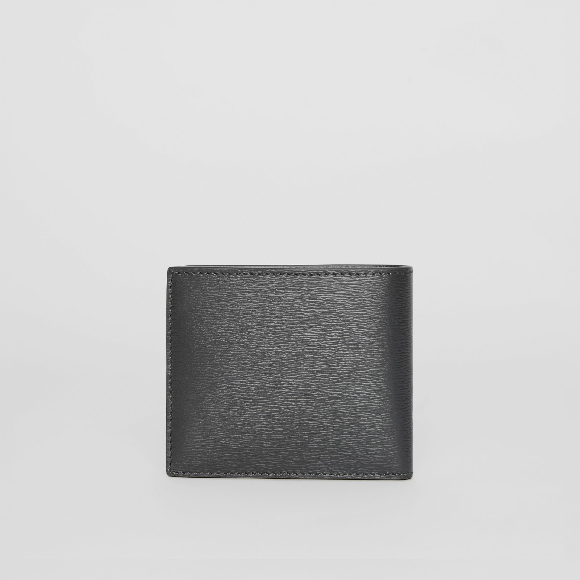 EKD London Leather Bifold Wallet with ID Card Case in Black - Men | Burberry Australia - gallery image 5