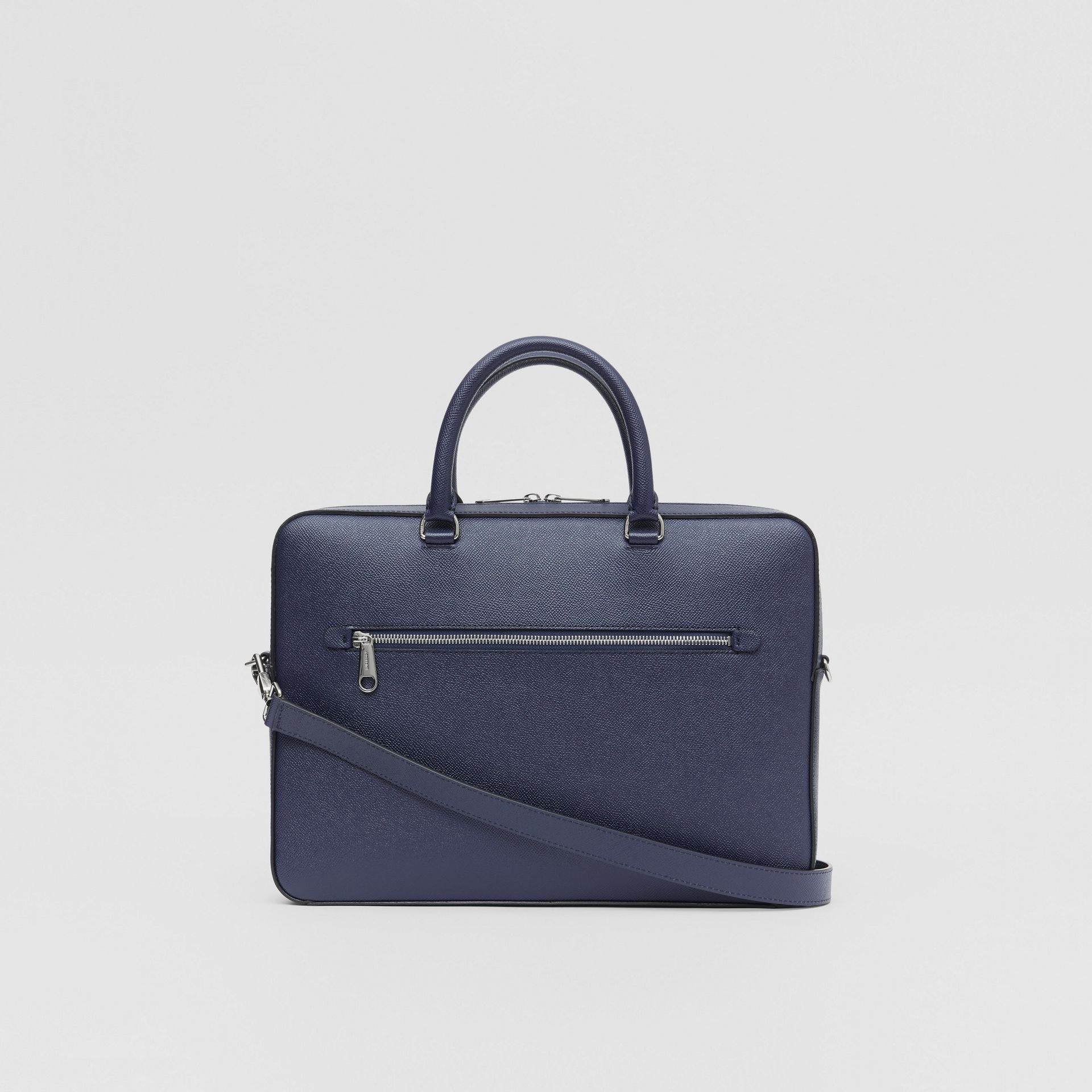Grainy Leather Briefcase in Regency Blue - Men | Burberry Singapore - gallery image 7