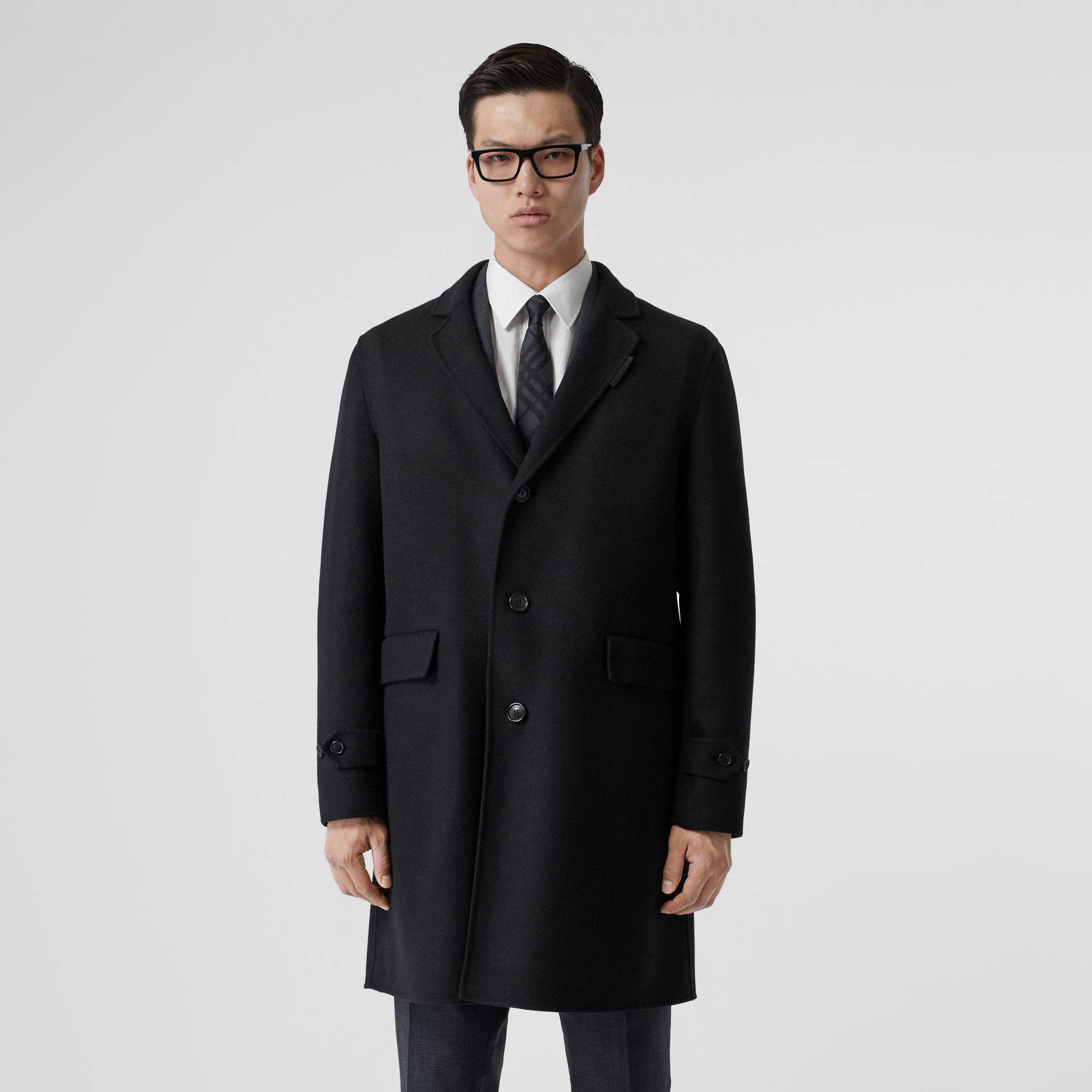 Wool Cashmere Lab Coat in Black - Men | Burberry - gallery image 5