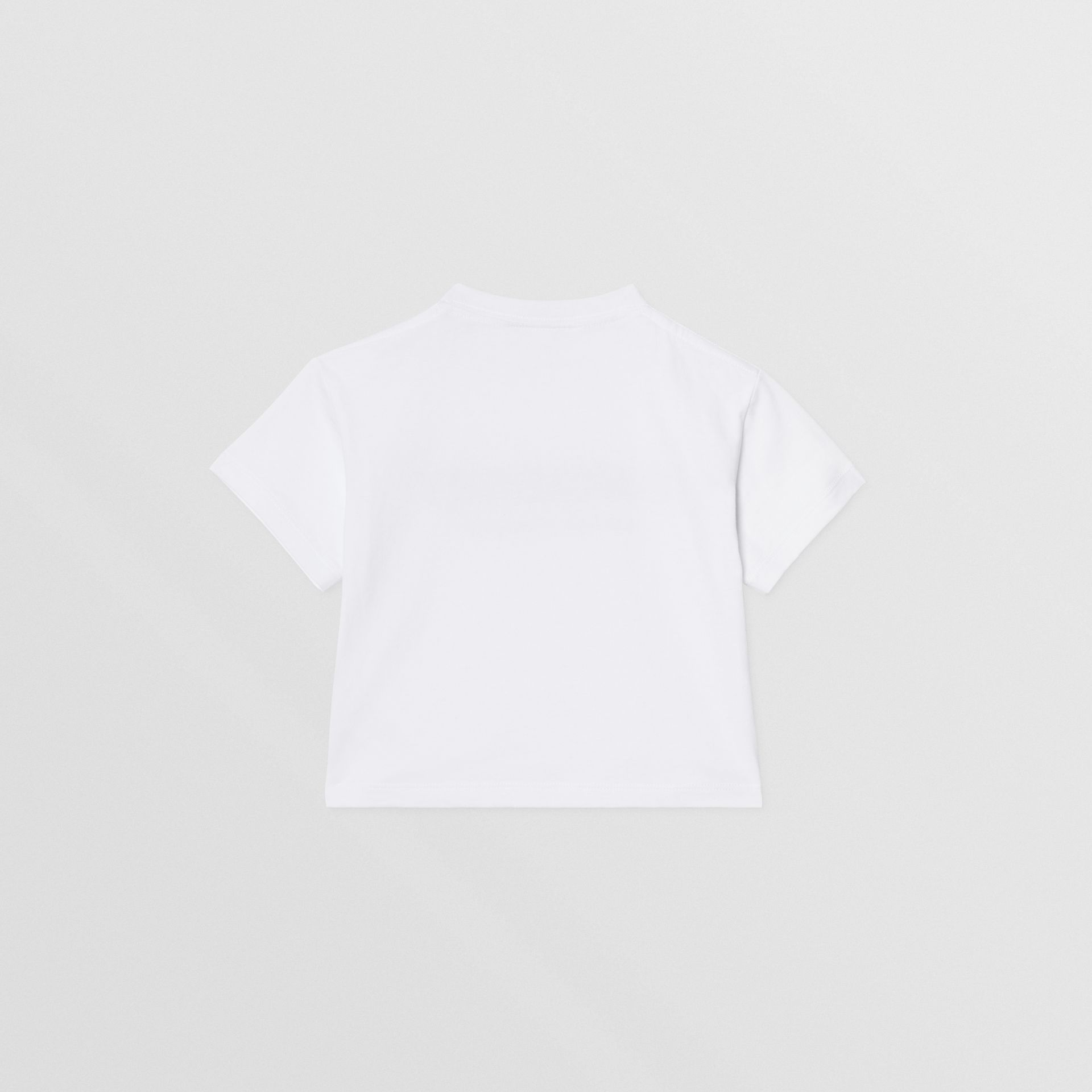 Logo Print Cotton T-shirt in White - Children | Burberry - gallery image 3