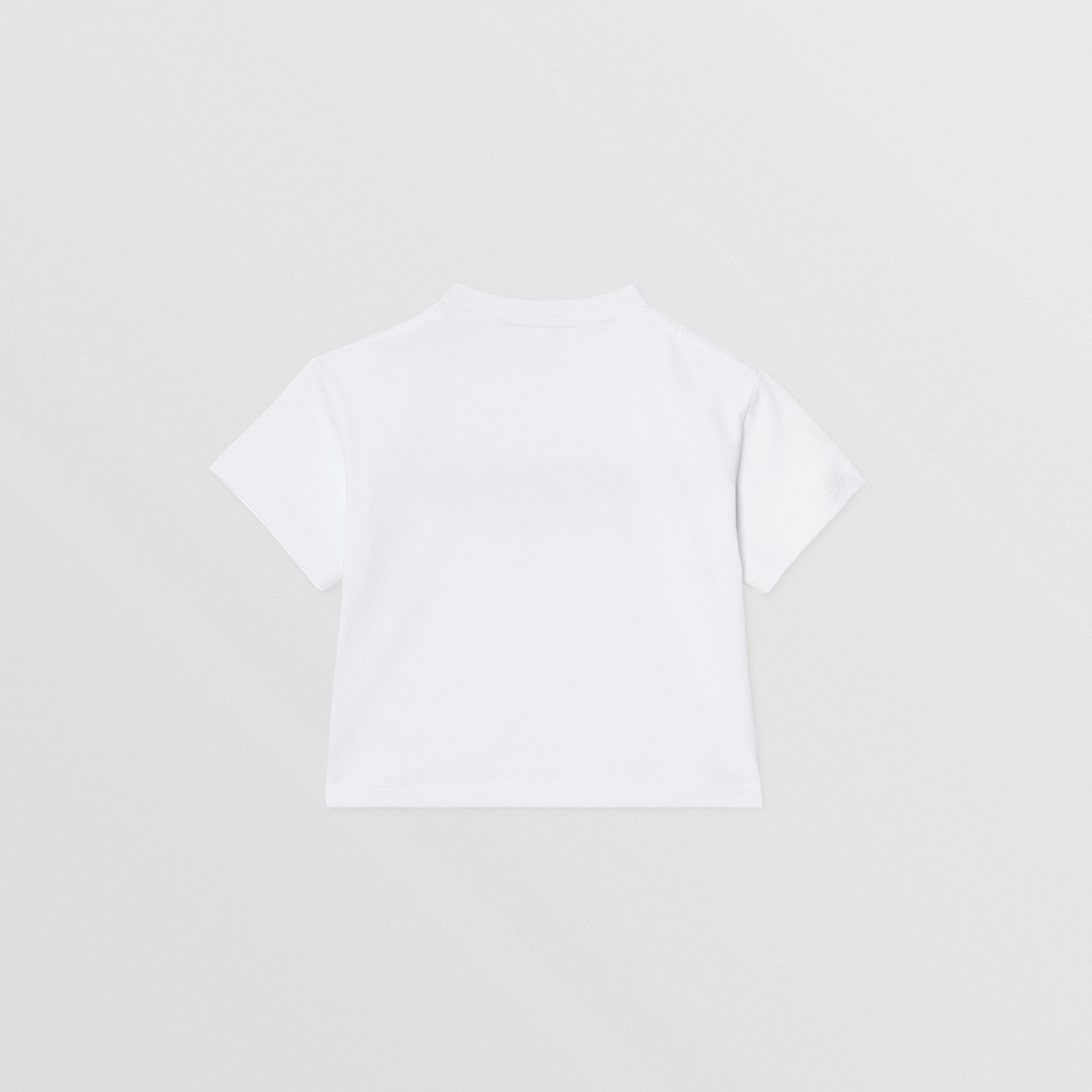 Logo Print Cotton T-shirt in White - Children | Burberry - 4