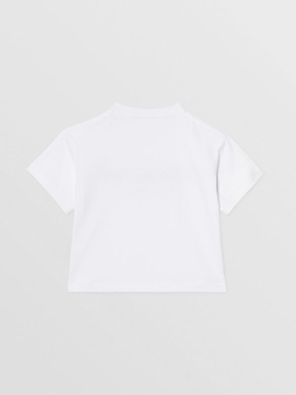 Logo Print Cotton T-shirt in White - Children | Burberry Hong Kong S.A.R - cell image 3