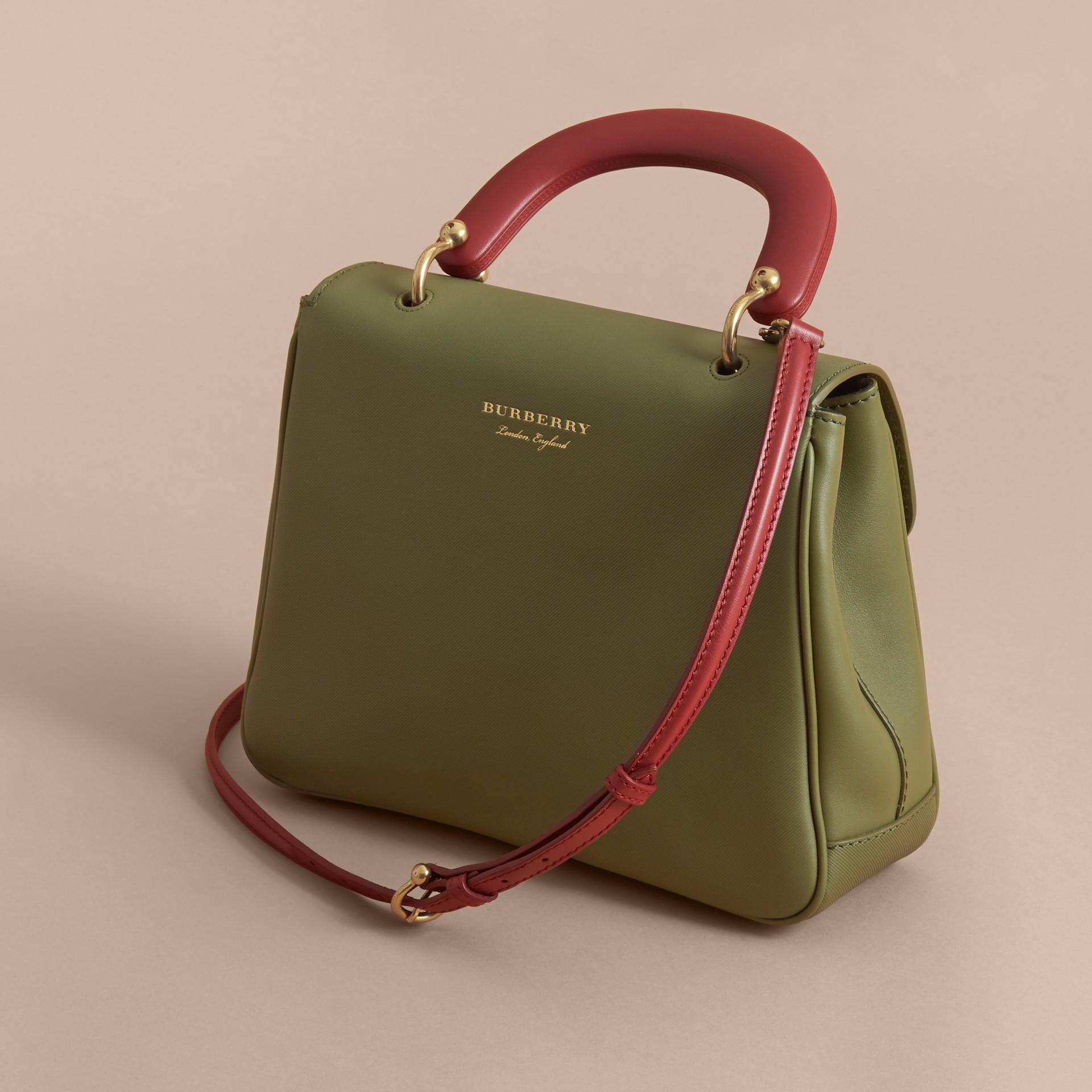The Medium DK88 Top Handle Bag Moss Green - gallery image 5