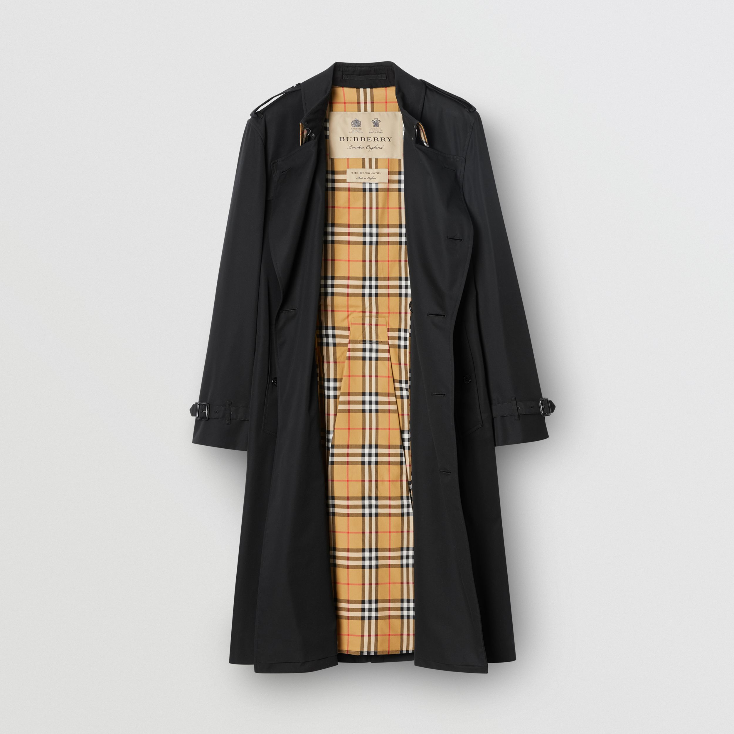 The Long Kensington Heritage Trench Coat in Black - Men | Burberry - 4