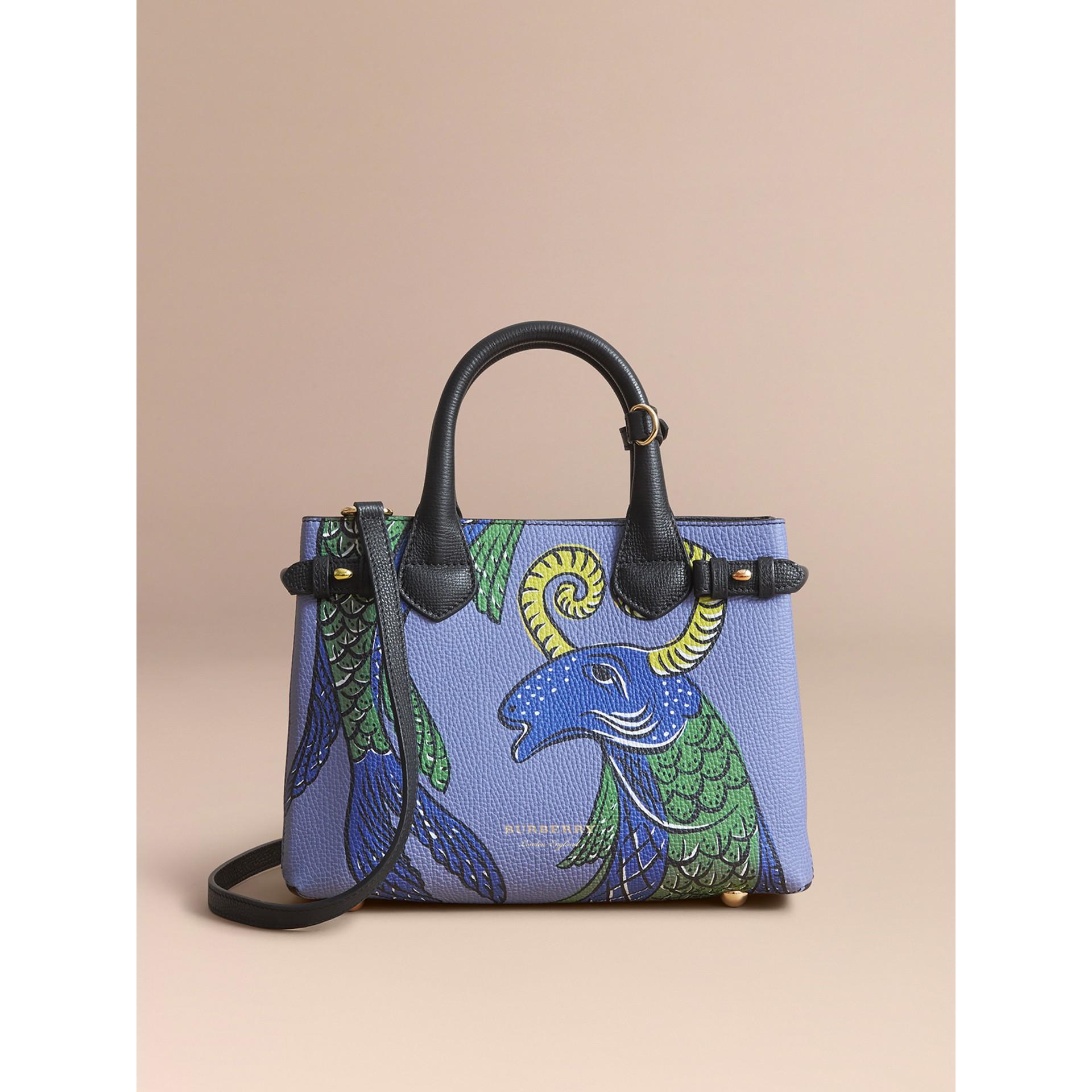 Bolsa Banner pequena de couro com estampa Beasts (Preto) - Mulheres | Burberry - galeria de imagens 8
