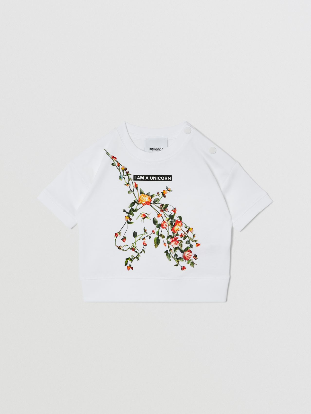 Montage Print Cotton T-shirt in White