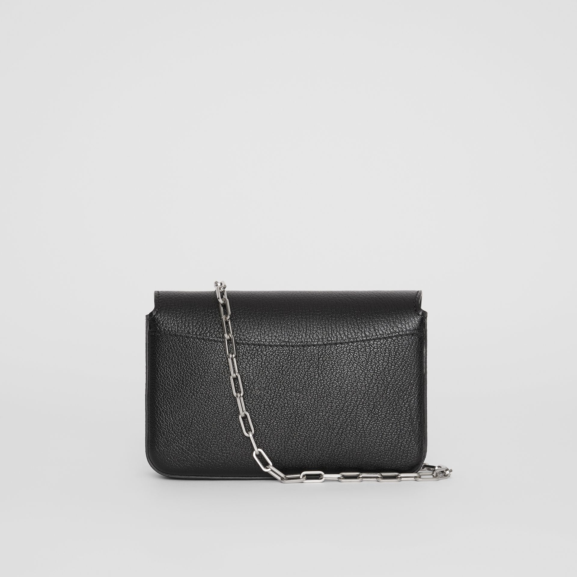The Mini Leather D-ring Bag in Black - Women | Burberry Canada - gallery image 7