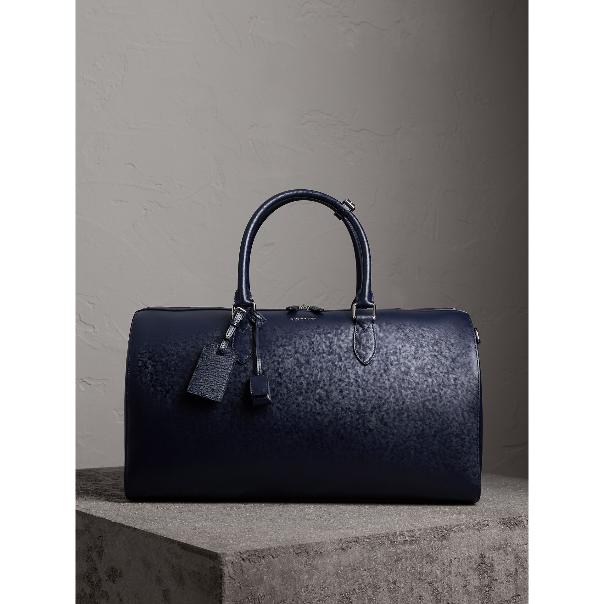 London Leather Holdall in Dark Navy - Men | Burberry Canada - gallery image 1