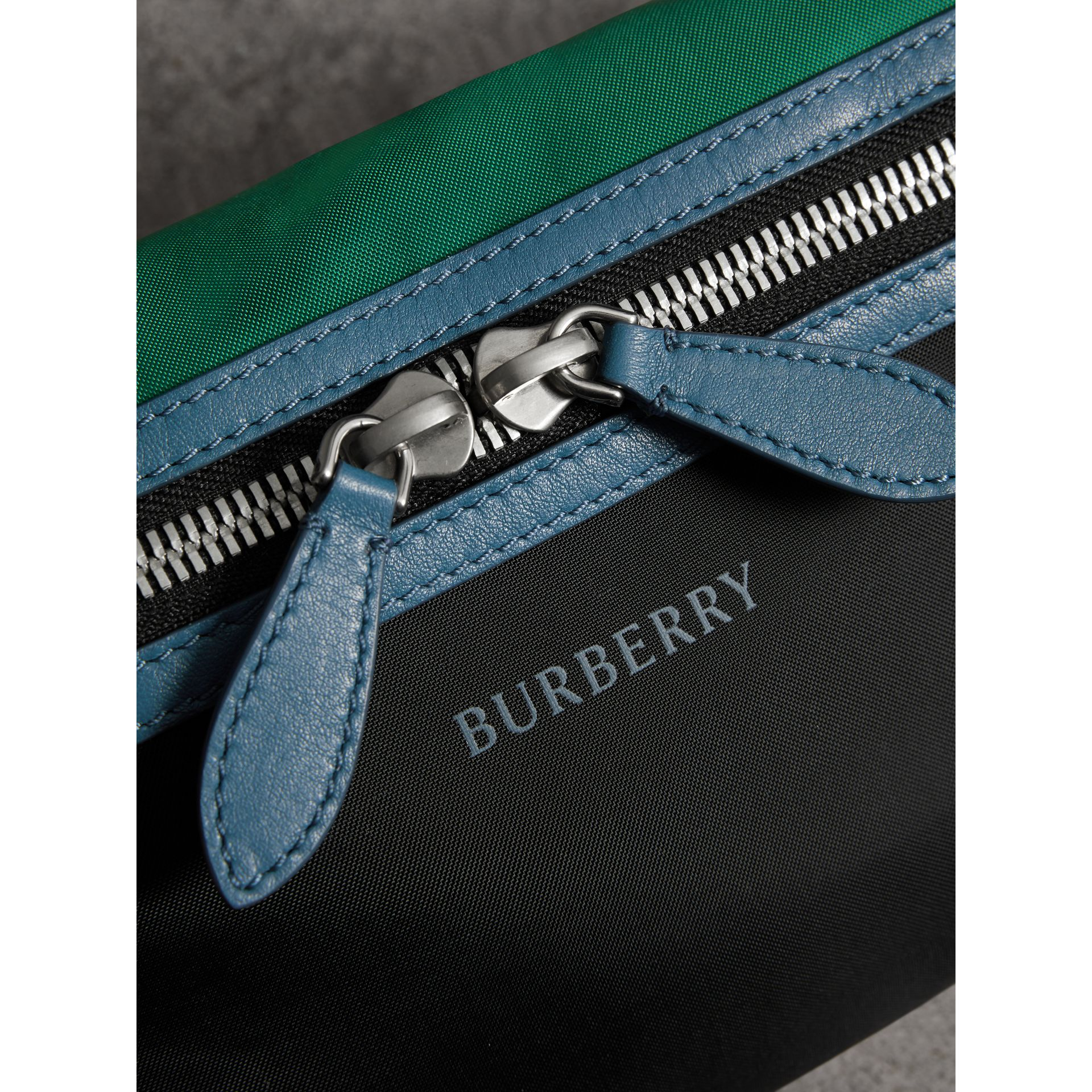 Tri-tone Nylon and Leather Bum Bag in Black | Burberry Australia - gallery image 6
