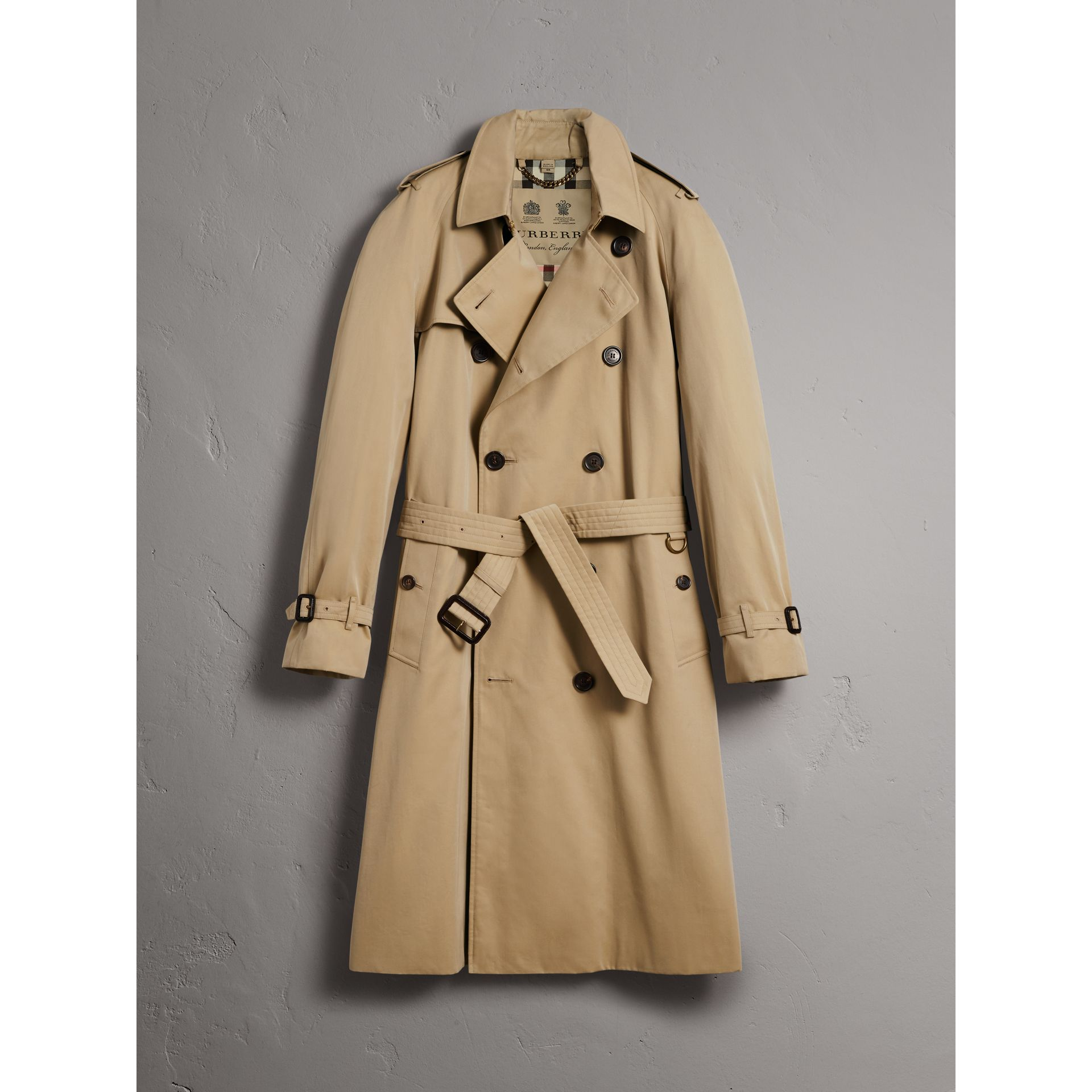 The Westminster – Extra-long Trench Coat in Honey - Men | Burberry United States - gallery image 3