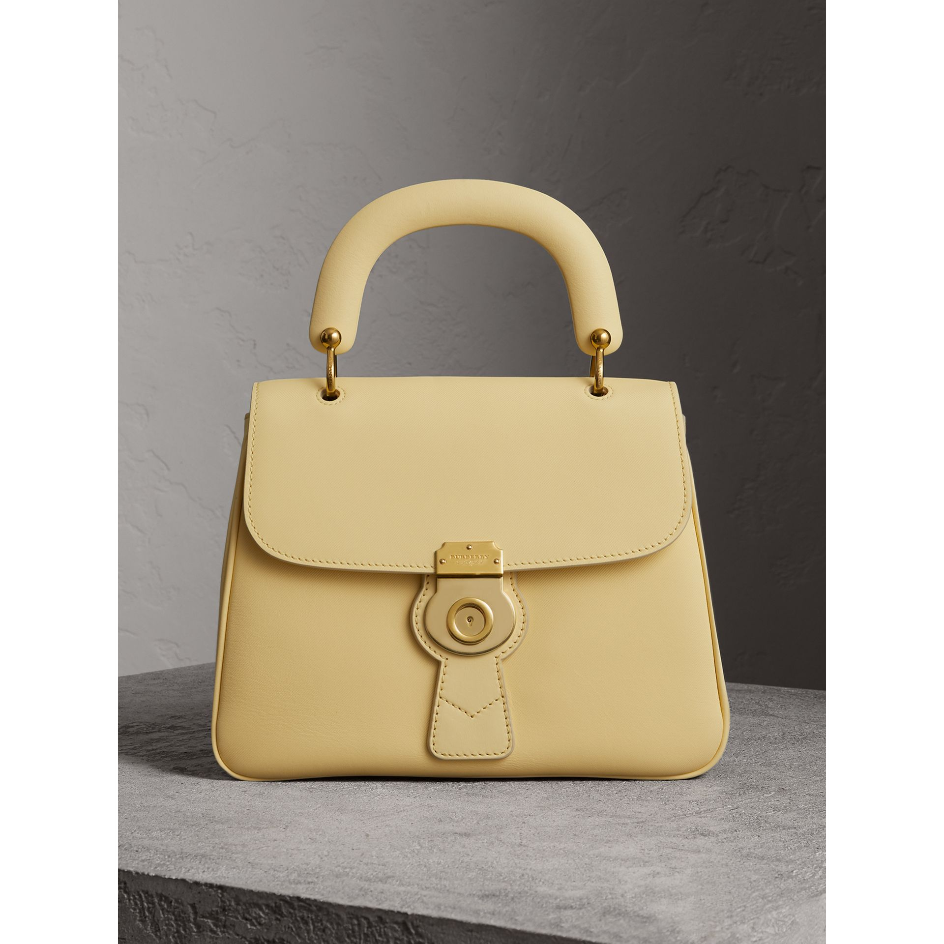 The Medium DK88 Top Handle Bag in Camomile Yellow - Women | Burberry - gallery image 1