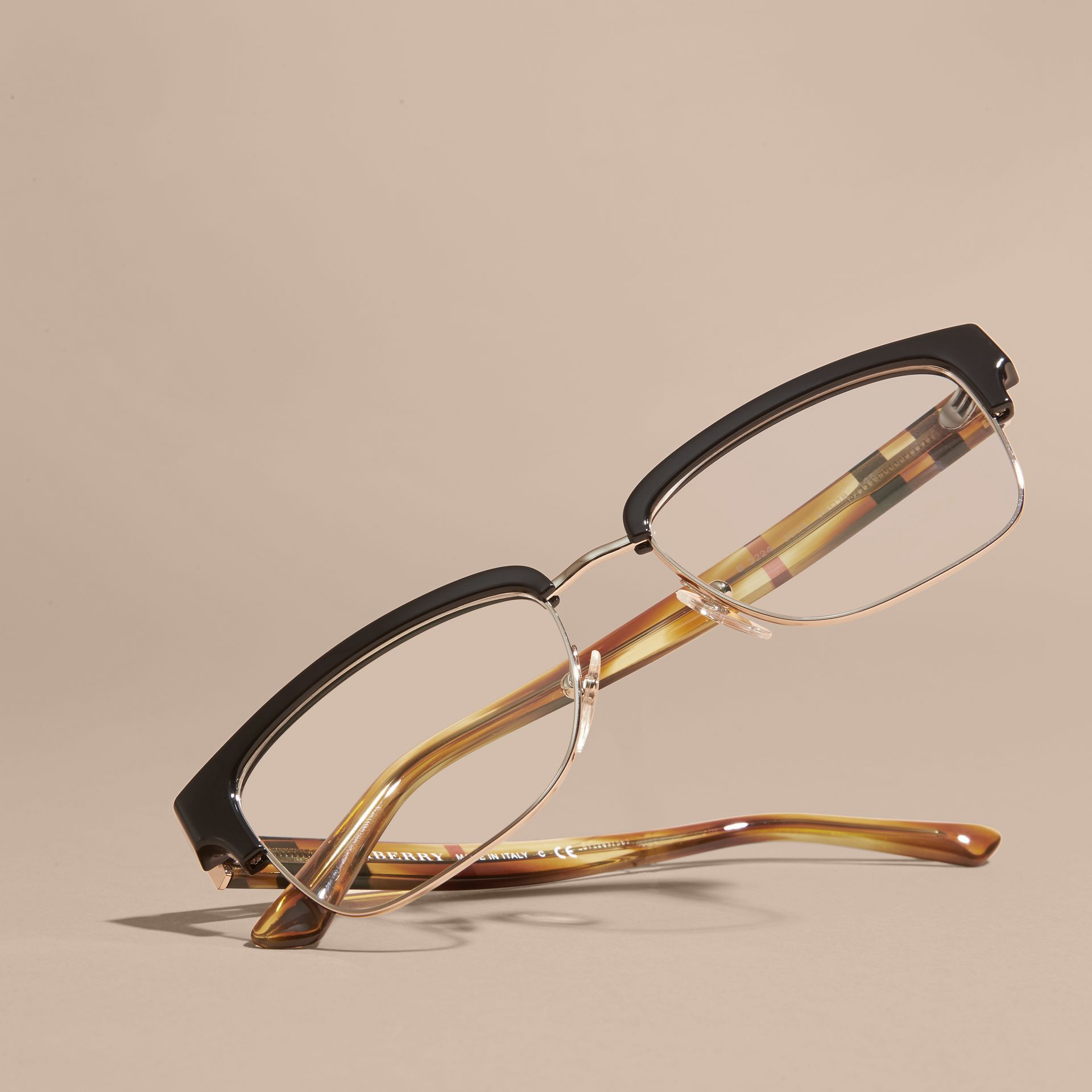 Half-rimmed Oval Optical Frames Black - gallery image 5