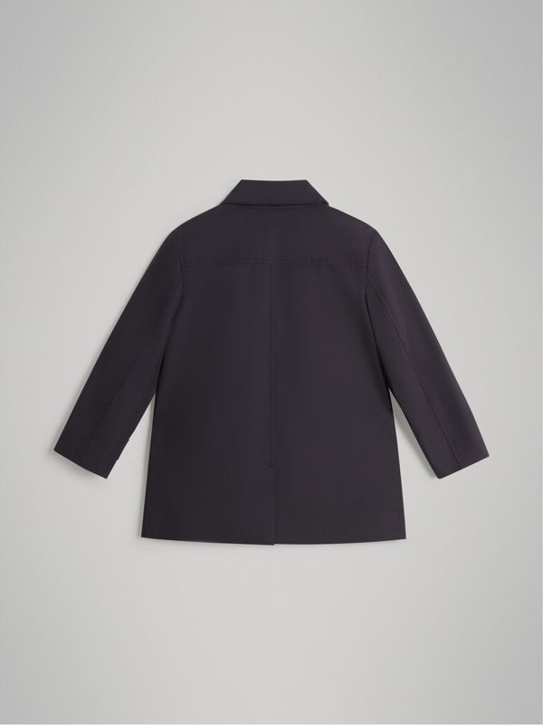 Mercerised Cotton Car Coat in Navy | Burberry - cell image 3