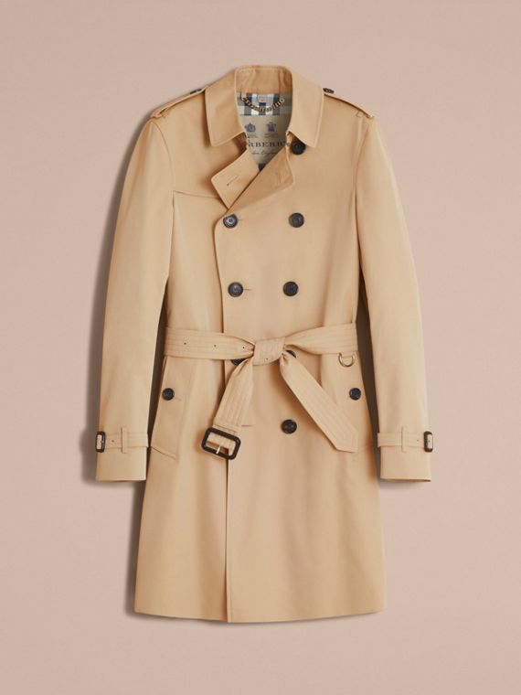The Chelsea – Long Heritage Trench Coat in Honey - Men | Burberry - cell image 3