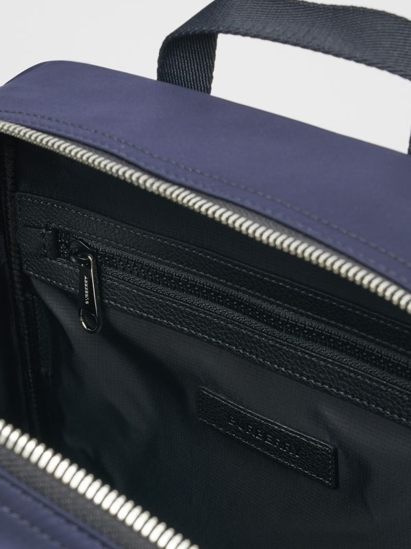 Colour Block Pocket Detail Vintage Check Backpack in Cobalt Blue - Children | Burberry - cell image 3