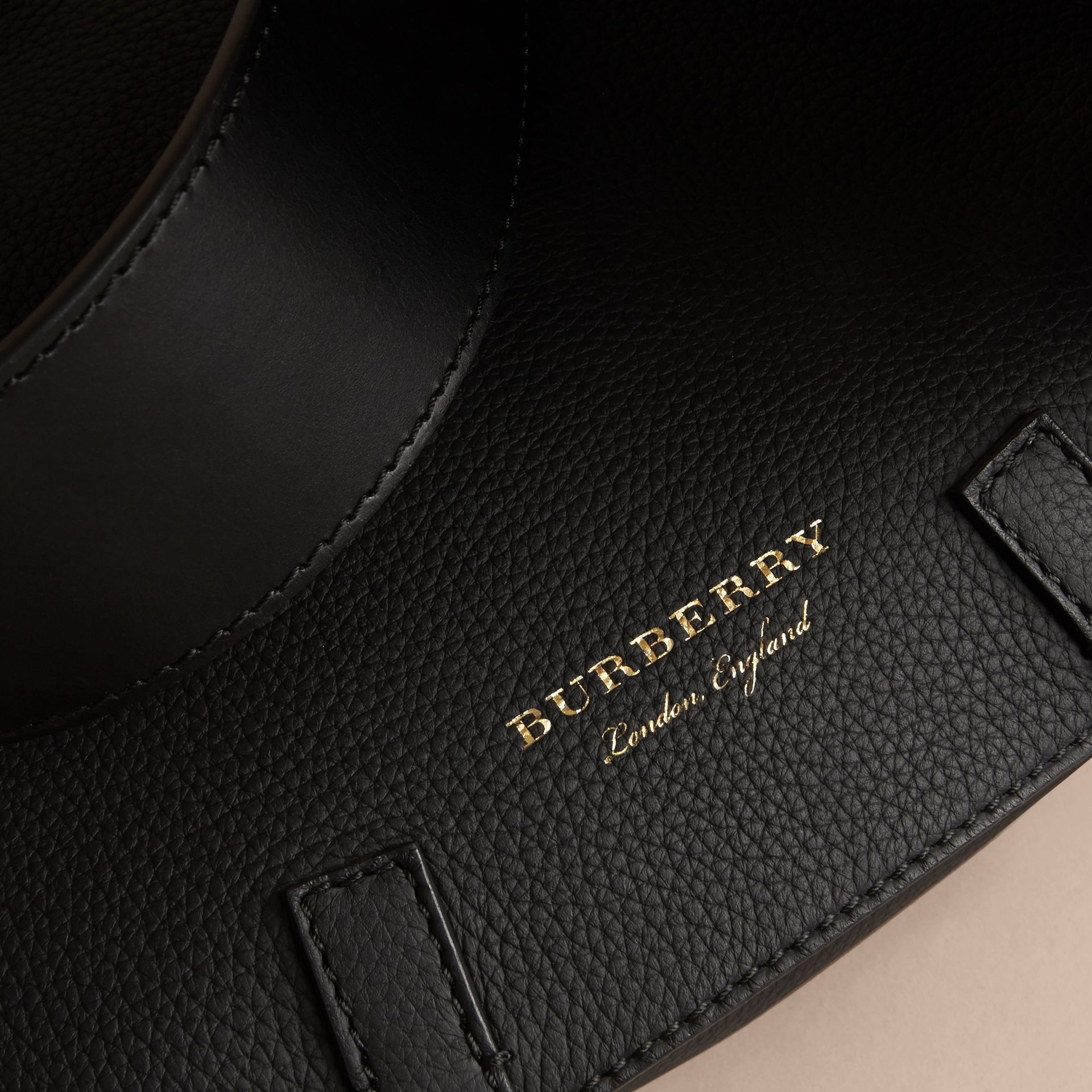 The Bridle Bag in Deerskin in Black - Women | Burberry United Kingdom - gallery image 2