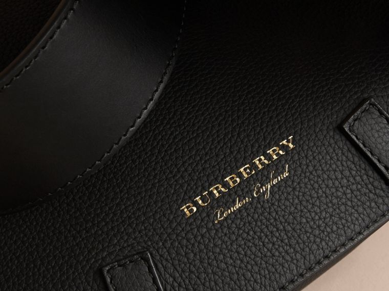 The Bridle Bag in Deerskin in Black - Women | Burberry - cell image 1