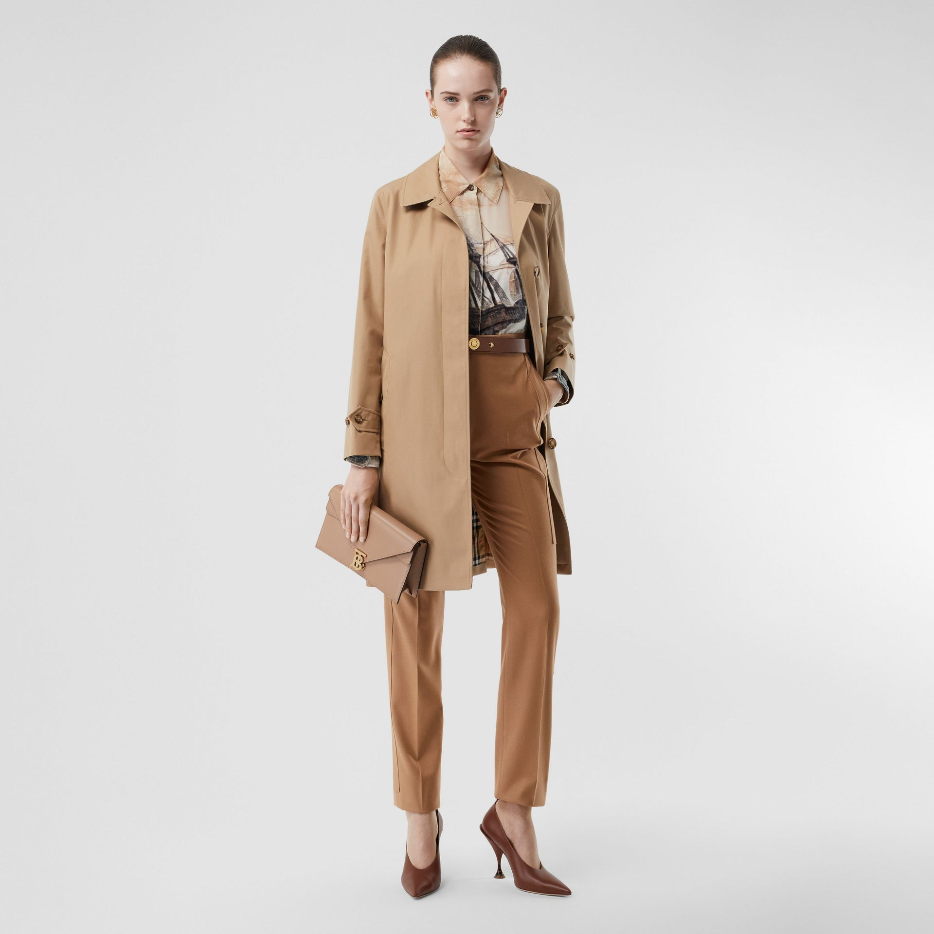 The Pimlico Heritage Car Coat in Biscuit - Women | Burberry United States - gallery image 0