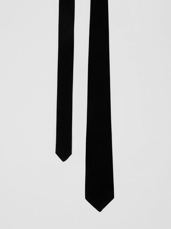 Classic Cut Velvet Tie in Black