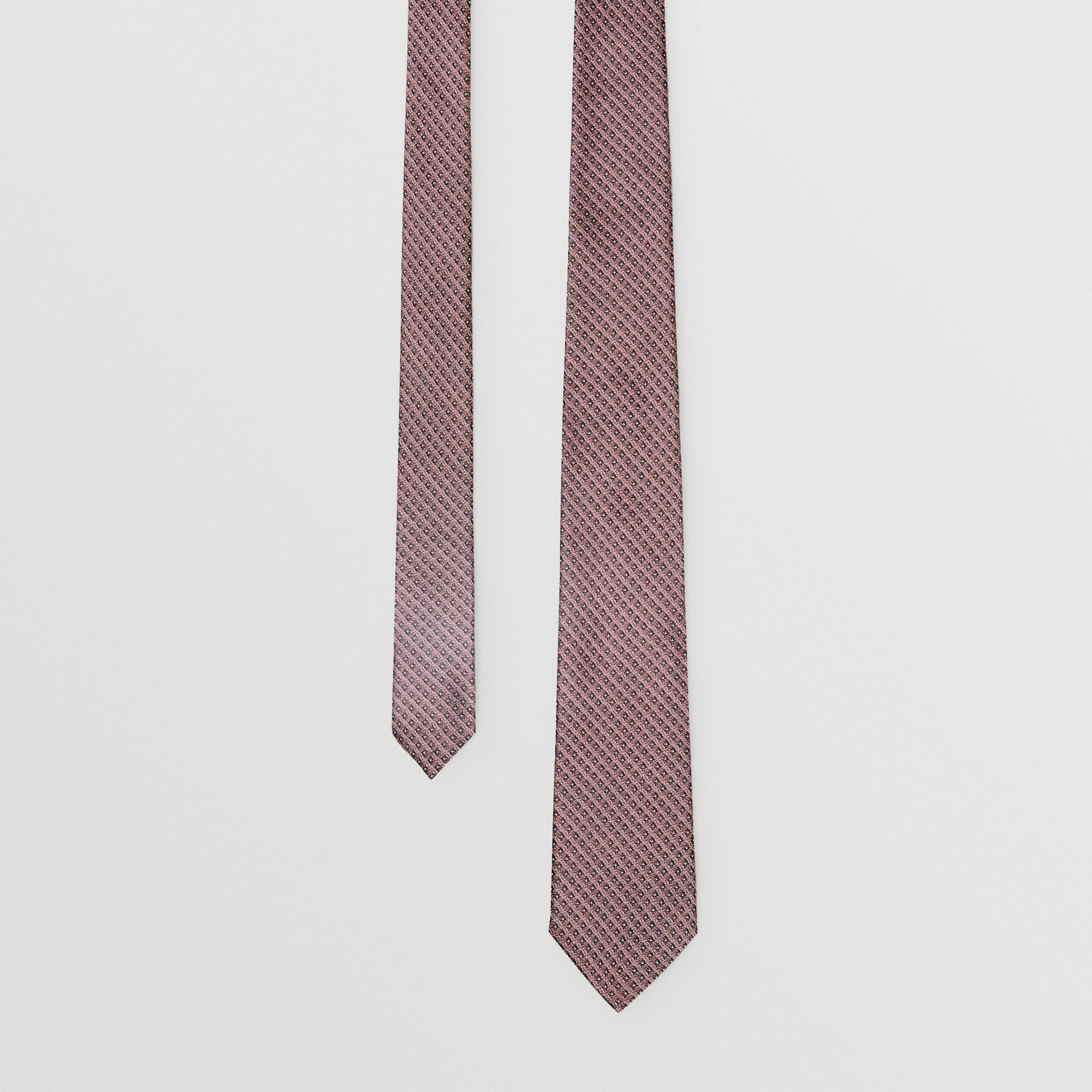 Classic Cut Micro Dot Silk Jacquard Tie in Garnet Pink - Men | Burberry United Kingdom - gallery image 0