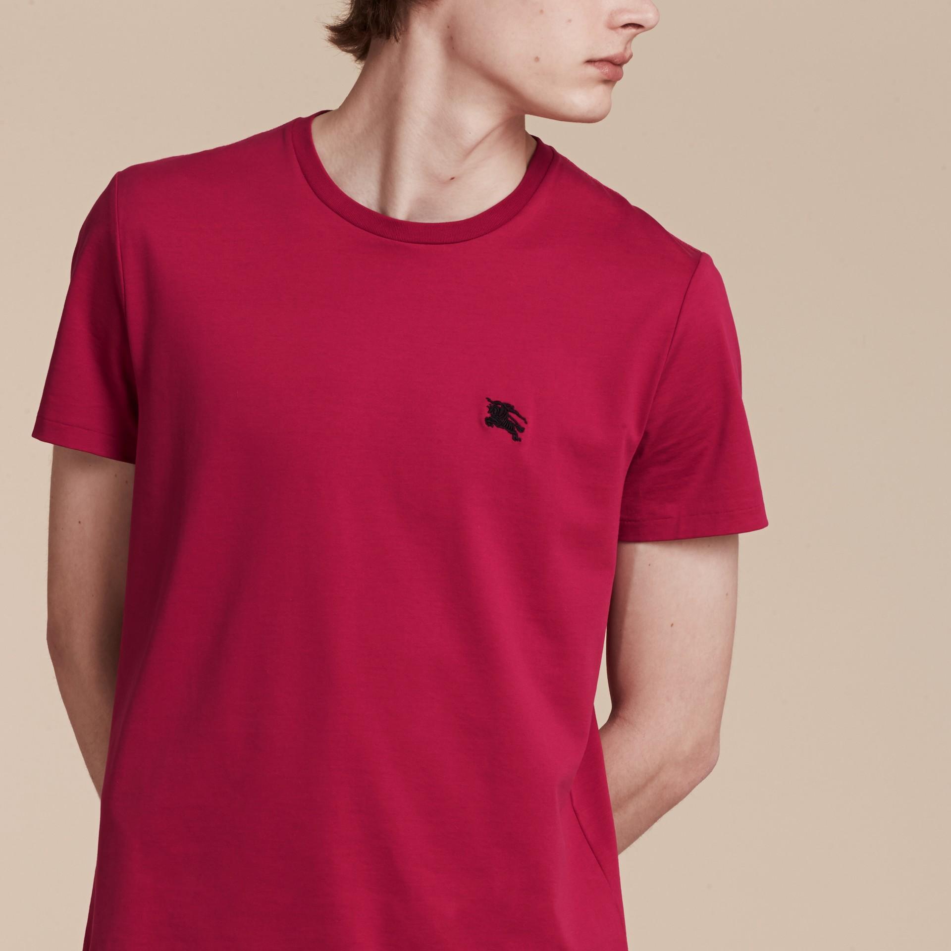 Vibrant fuchsia Liquid-soft Cotton T-Shirt Vibrant Fuchsia - gallery image 5