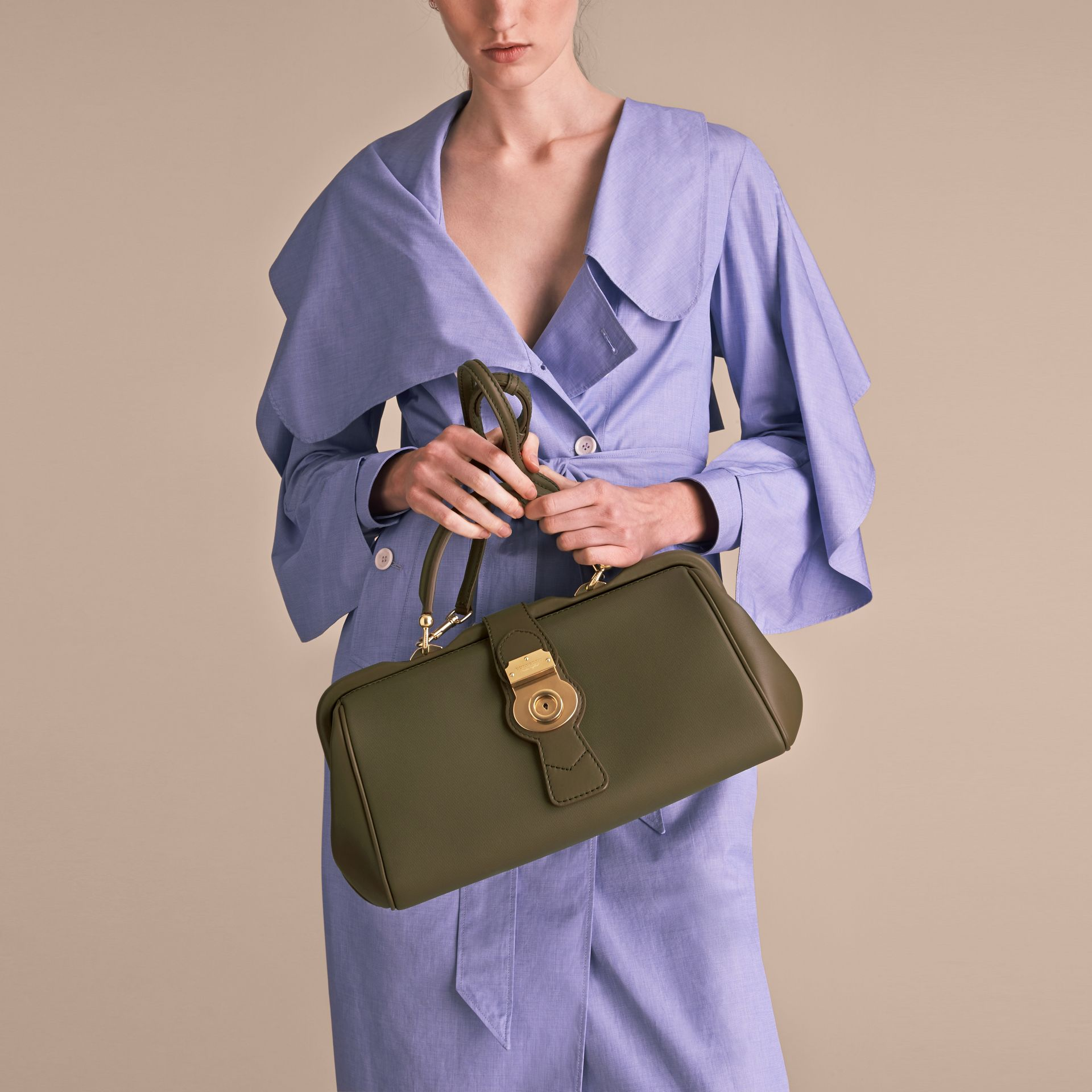 The DK88 Bowling Bag in Moss Green - Women | Burberry United Kingdom - gallery image 8