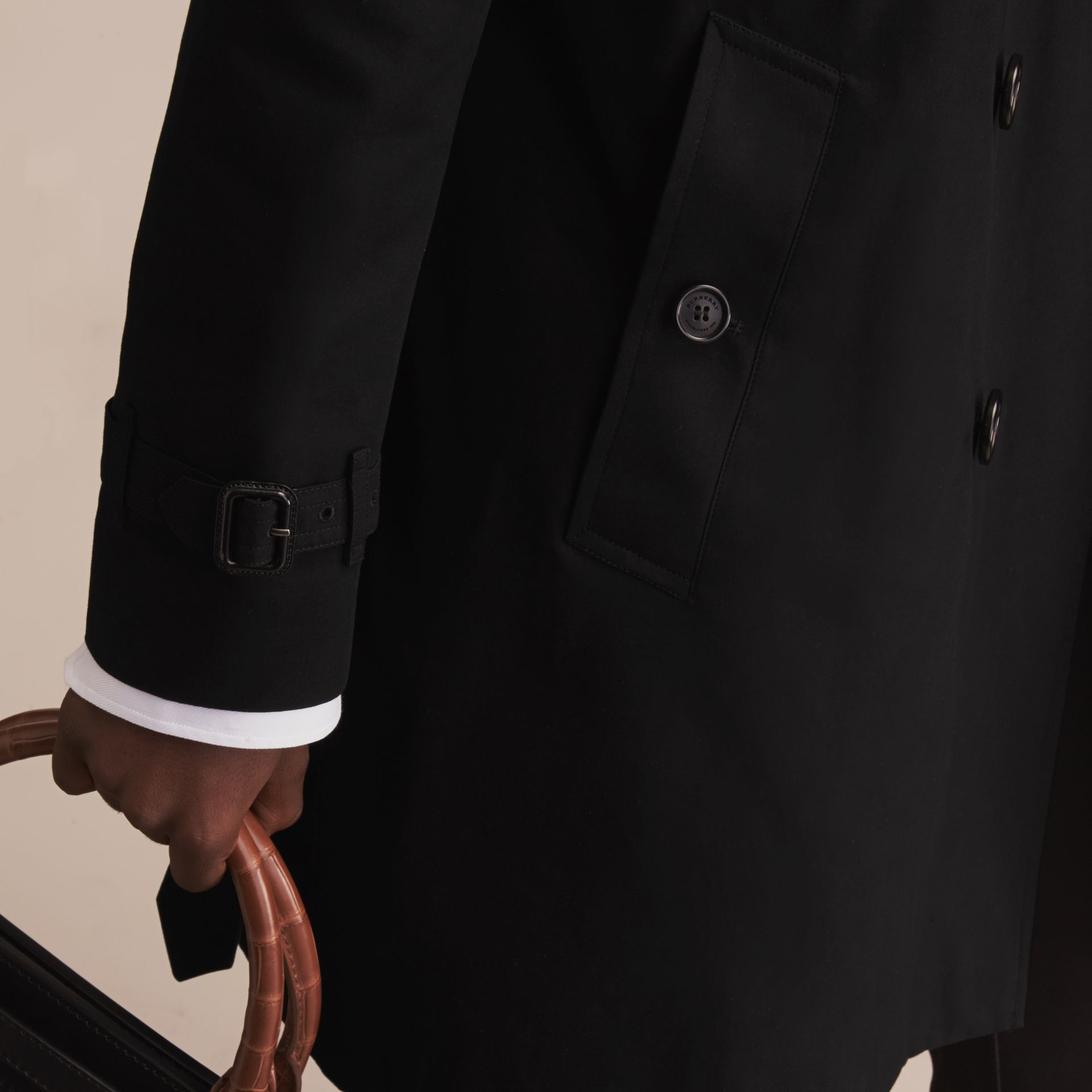 Black The Sandringham – Long Heritage Trench Coat Black - gallery image 8