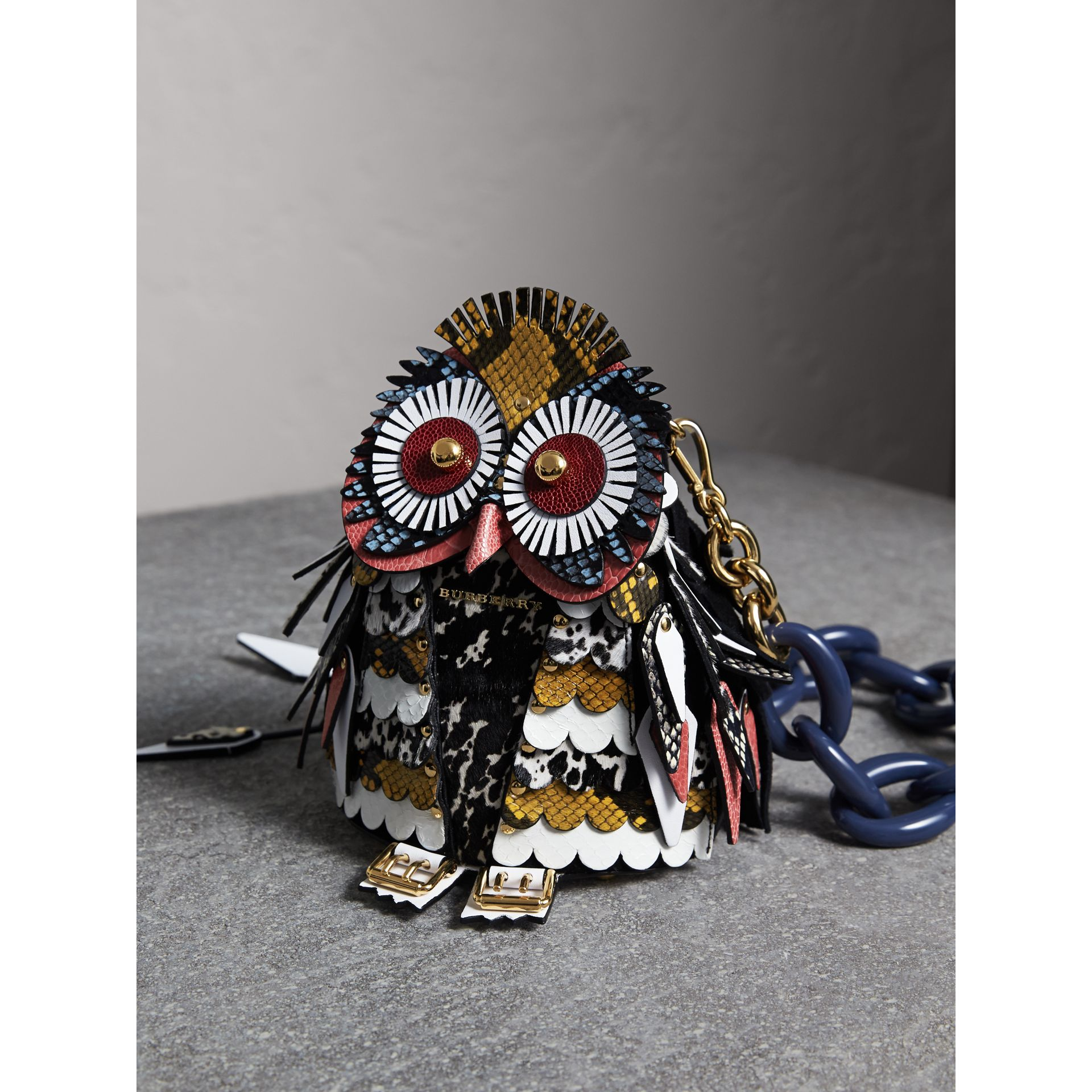 The Owl – Calf Suede and Calf Hair Crossbody Bag - Women | Burberry - gallery image 7