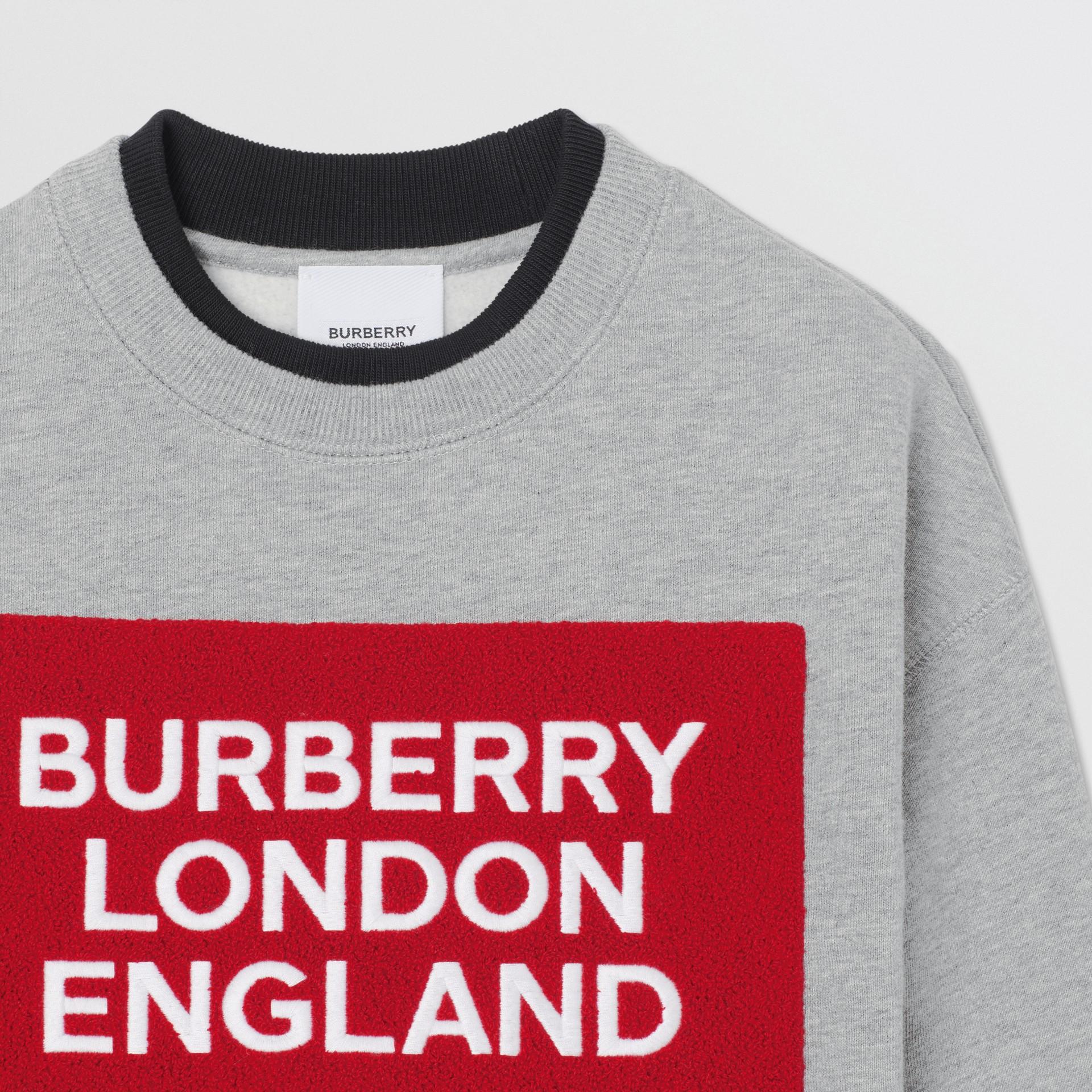 Logo Detail Jersey Sweatshirt in Grey Melange | Burberry United States - gallery image 5
