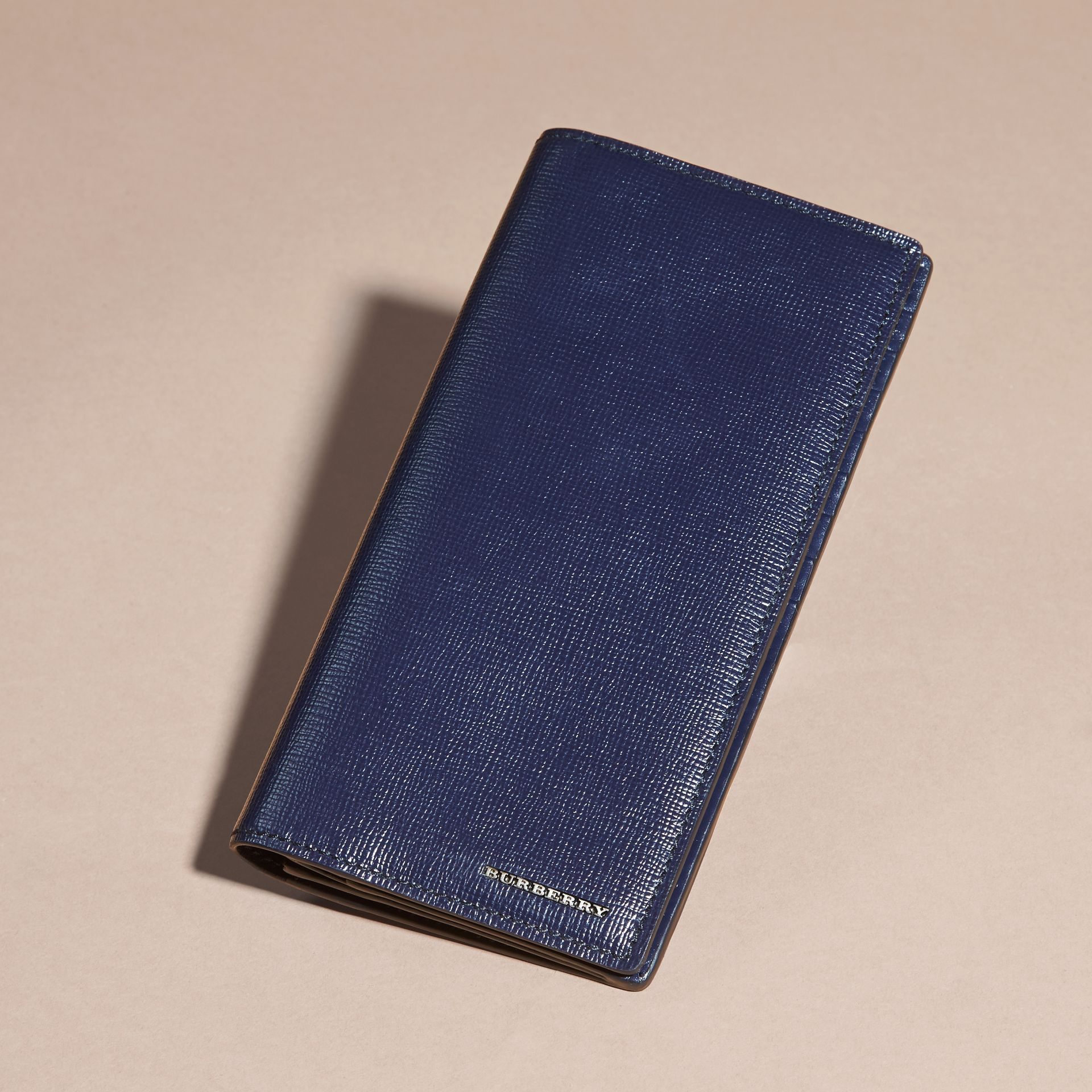 London Leather Continental Wallet in Dark Navy - gallery image 6