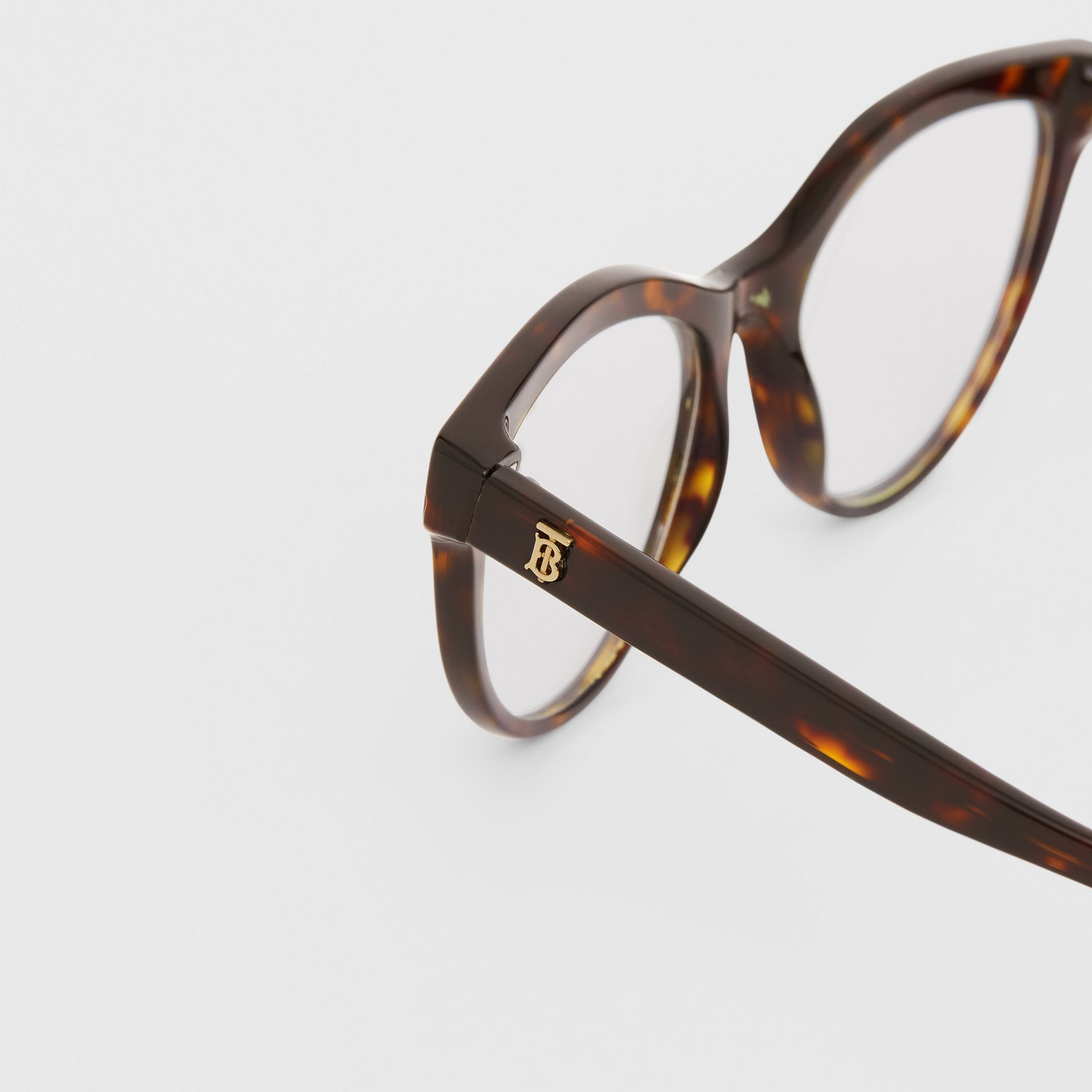 Monogram Motif Cat-eye Optical Frames in Tortoiseshell | Burberry United States - gallery image 1
