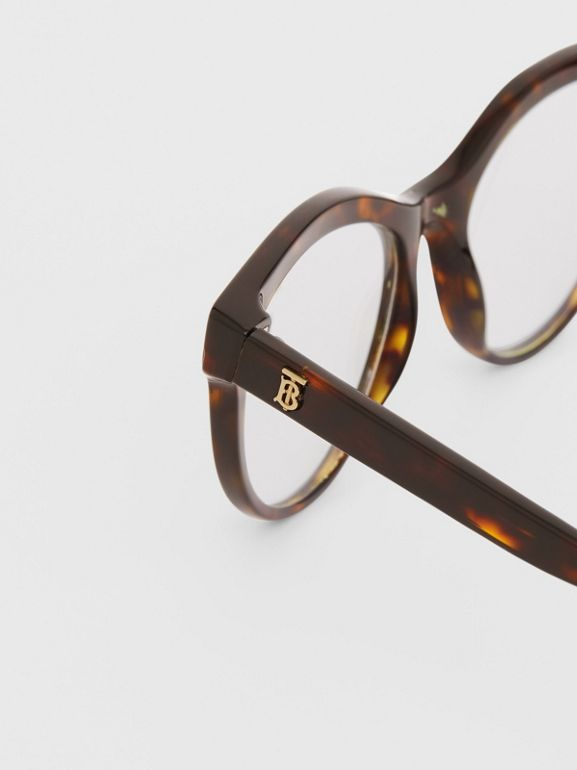 Monogram Motif Cat-eye Optical Frames in Tortoiseshell | Burberry United States - cell image 1