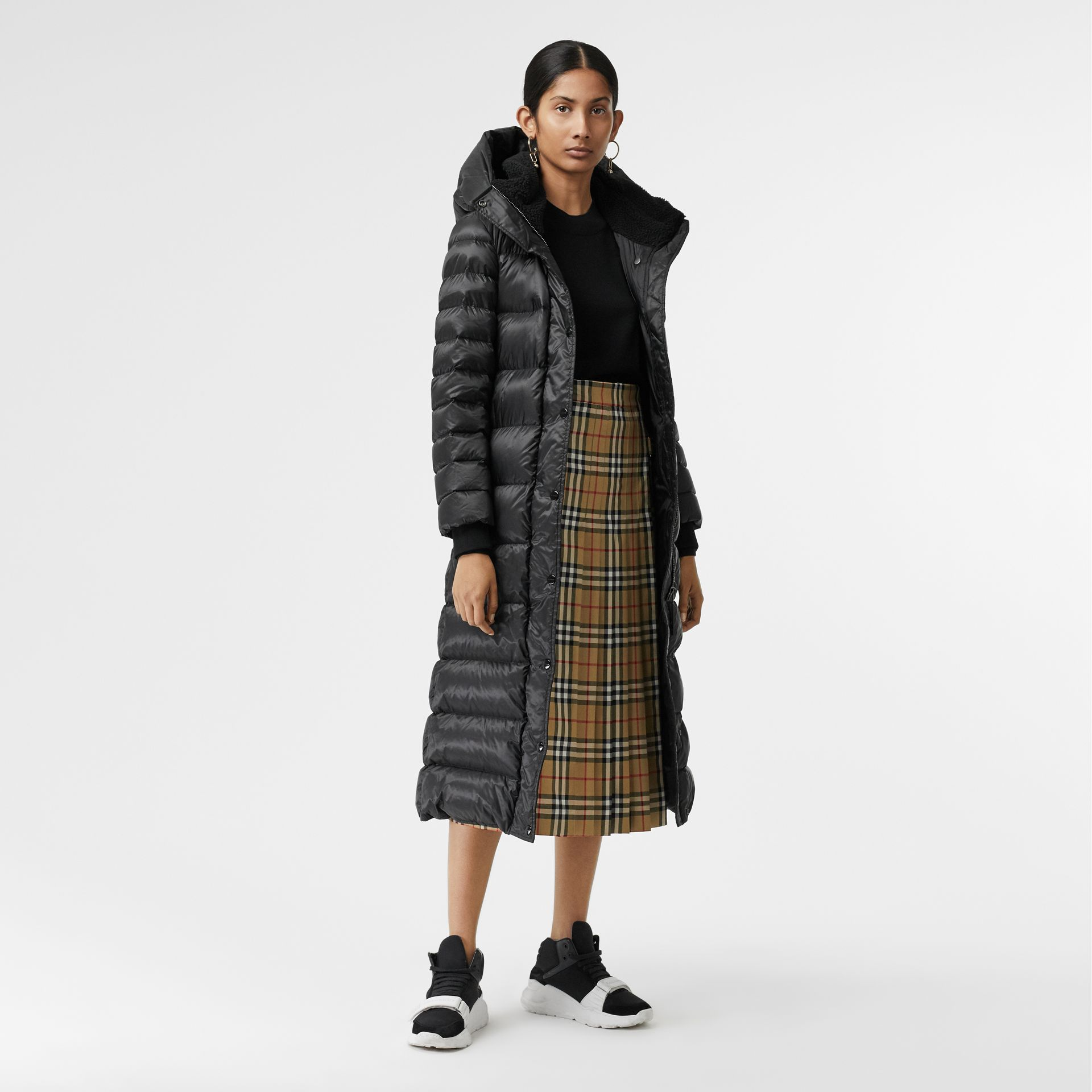 Down-filled Hooded Puffer Coat in Black - Women | Burberry - gallery image 0