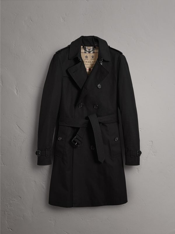 The Chelsea – Long Trench Coat in Black - Men | Burberry Canada - cell image 3
