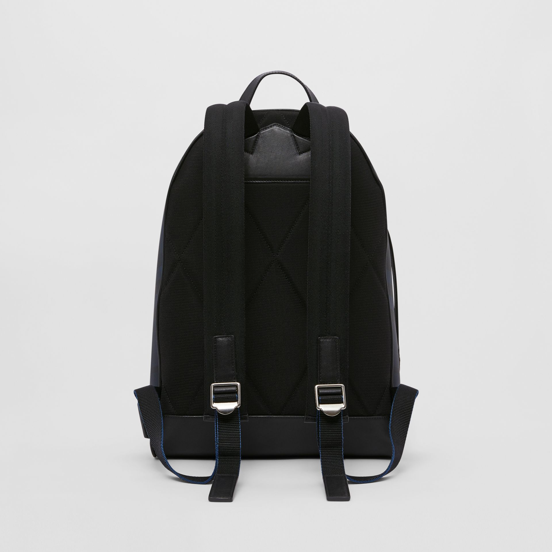London Check and Leather Backpack in Navy | Burberry - gallery image 9