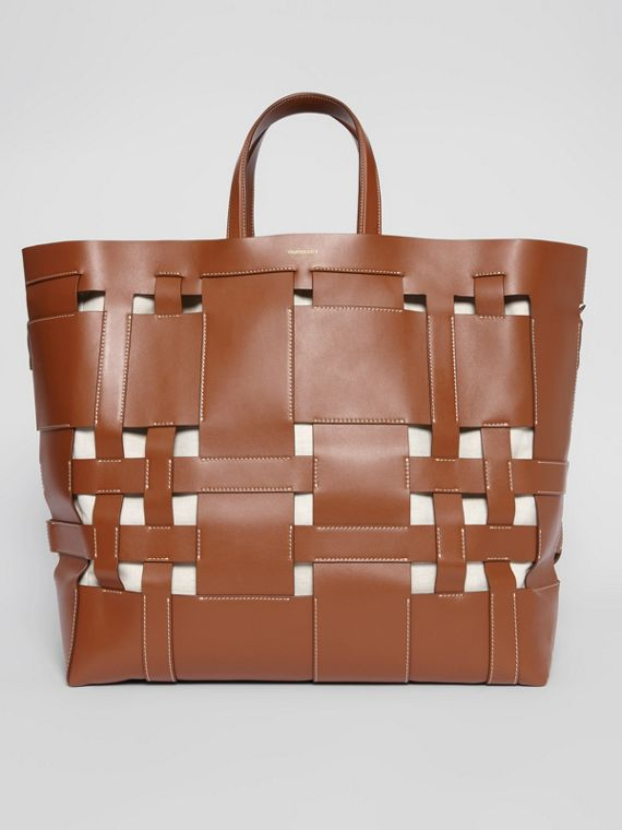 Large Leather Foster Tote in Malt Brown