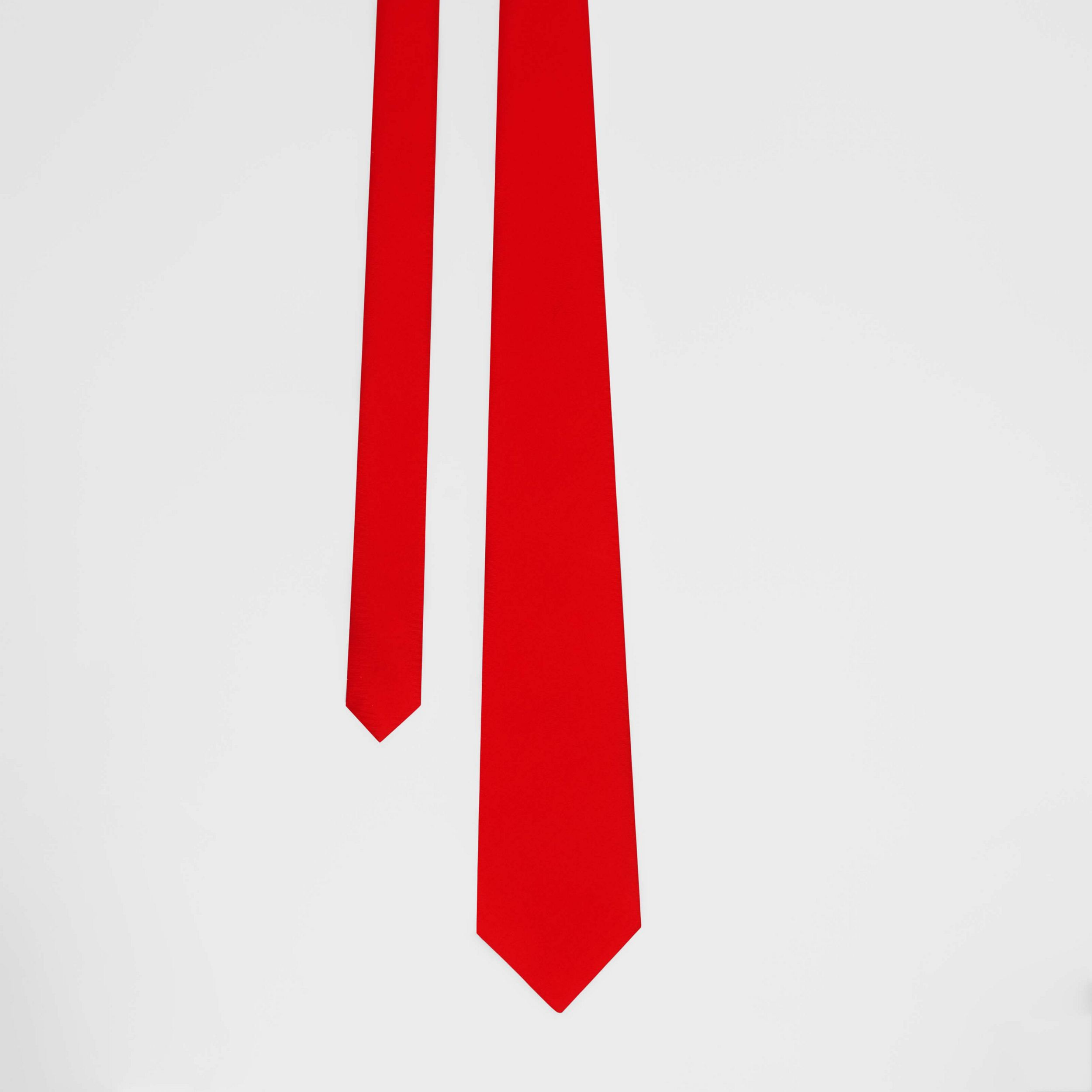 Classic Cut Silk Tie in Bright Red - Men | Burberry - 1