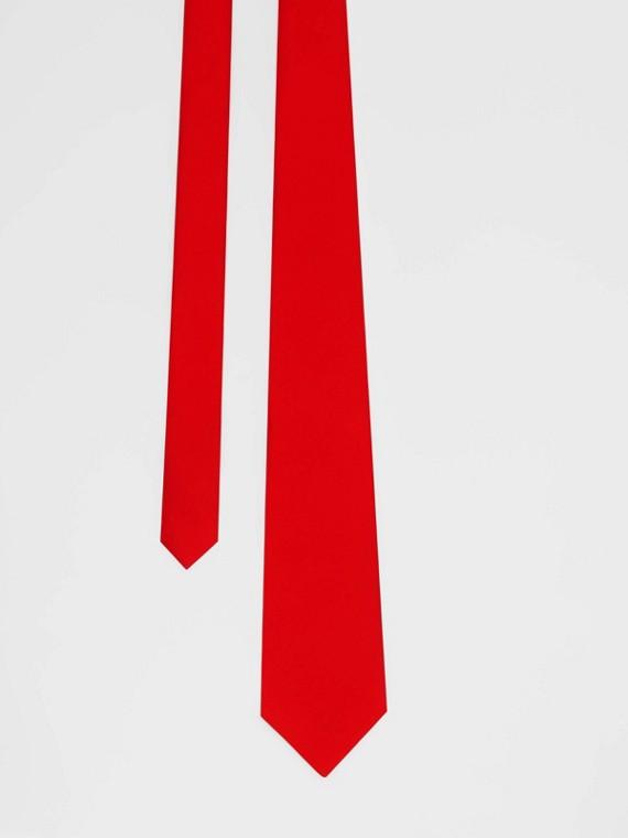 Gravata de seda com corte clássico (Vermelho Intenso)