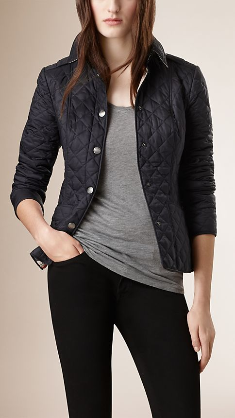 Ink Diamond Quilted Jacket Ink - Image 1