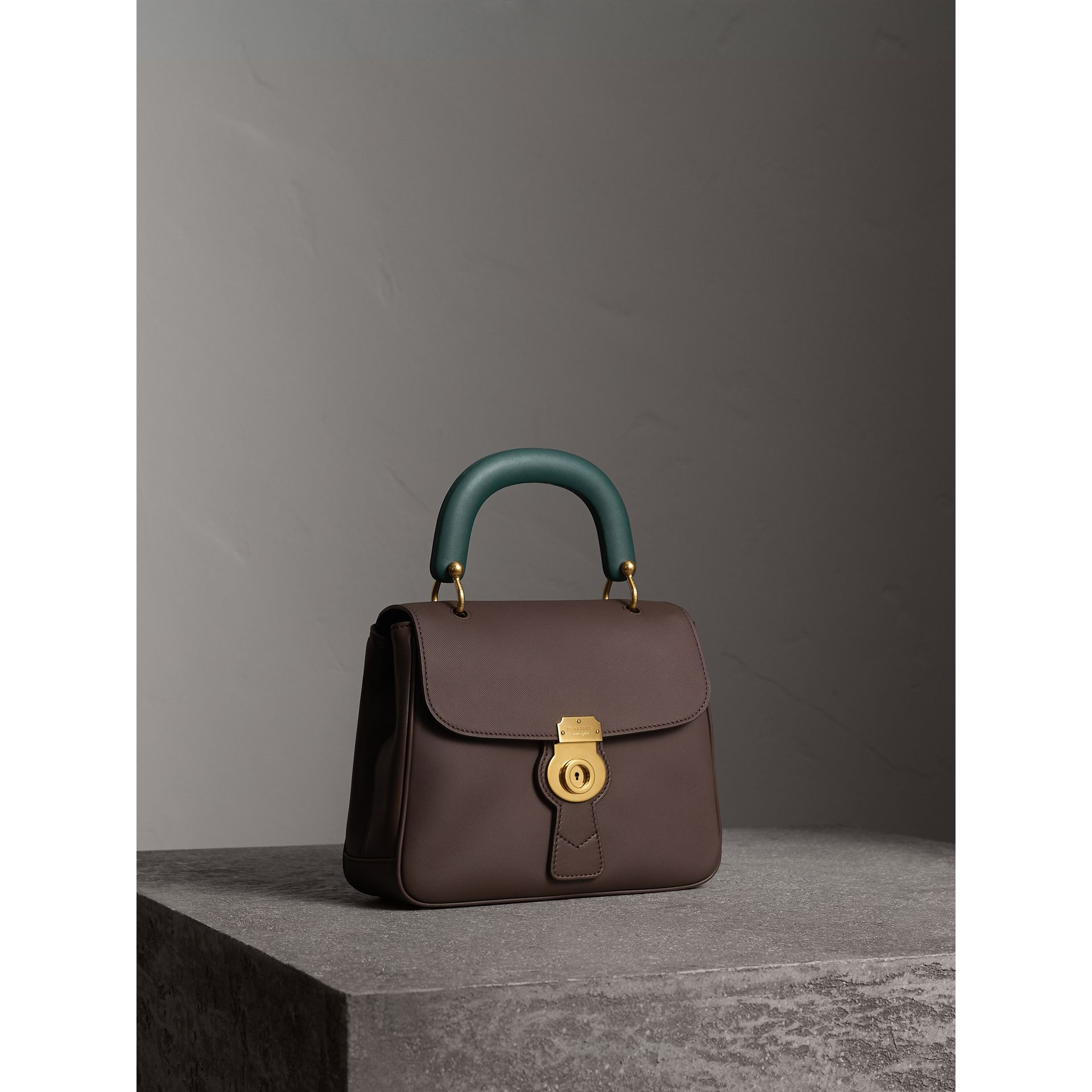 The Medium DK88 Top Handle Bag in Dark Chocolate - Women | Burberry United Kingdom - gallery image 7