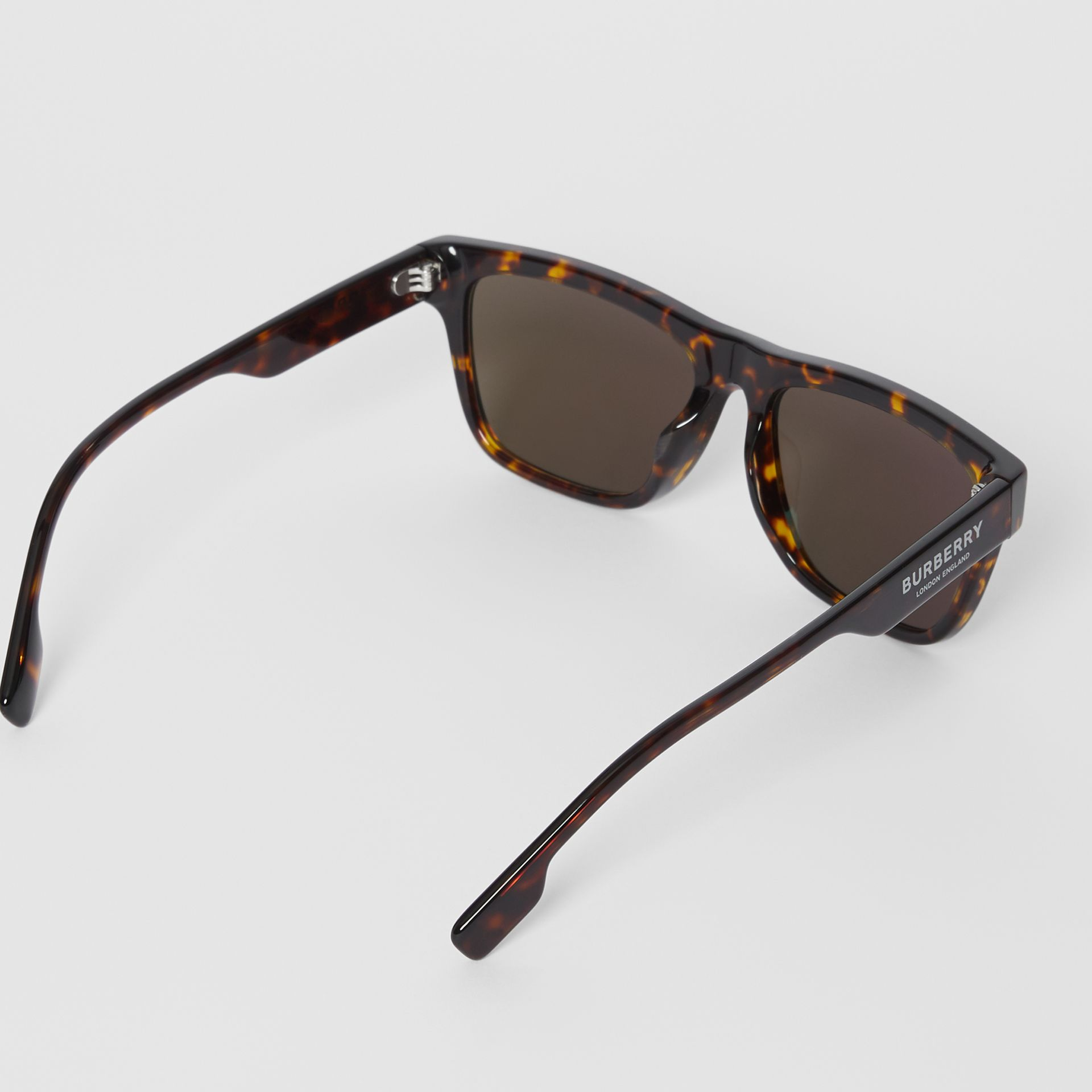 Square Frame Sunglasses in Tortoiseshell - Men | Burberry - gallery image 3