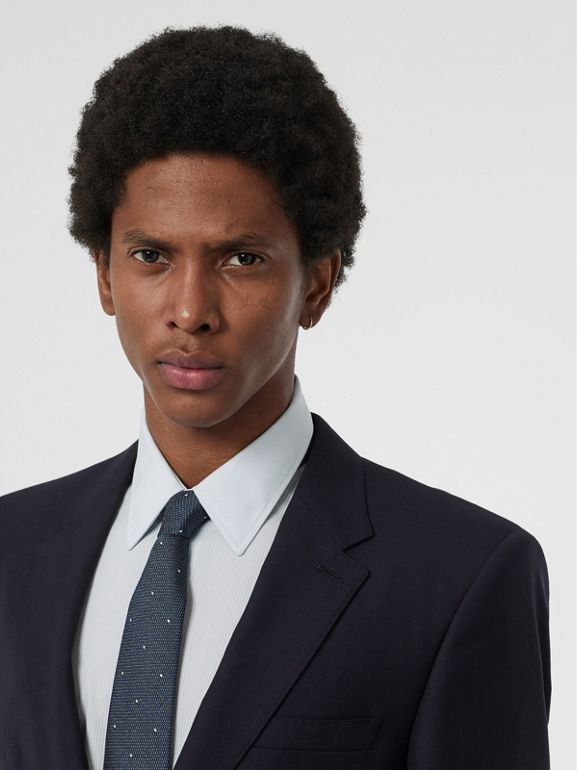 Modern Fit Wool Suit in Navy - Men | Burberry Singapore - cell image 1