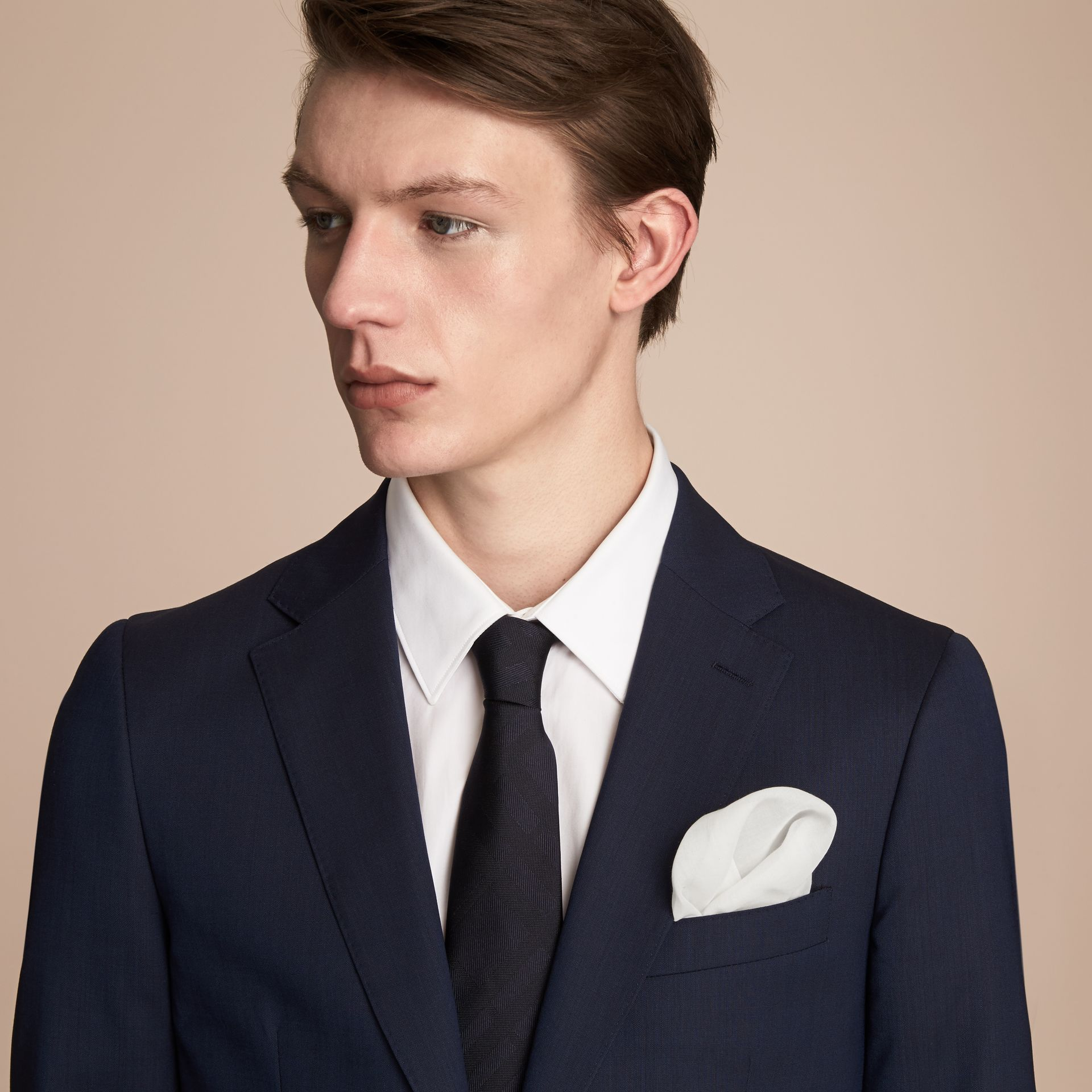 Cotton Silk Pocket Square - Men | Burberry - gallery image 3