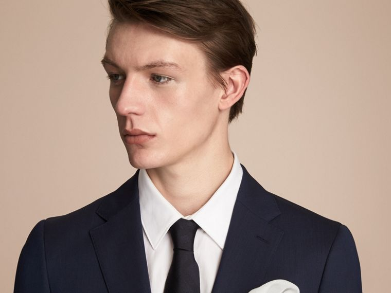 Cotton Silk Pocket Square - Men | Burberry Australia - cell image 2