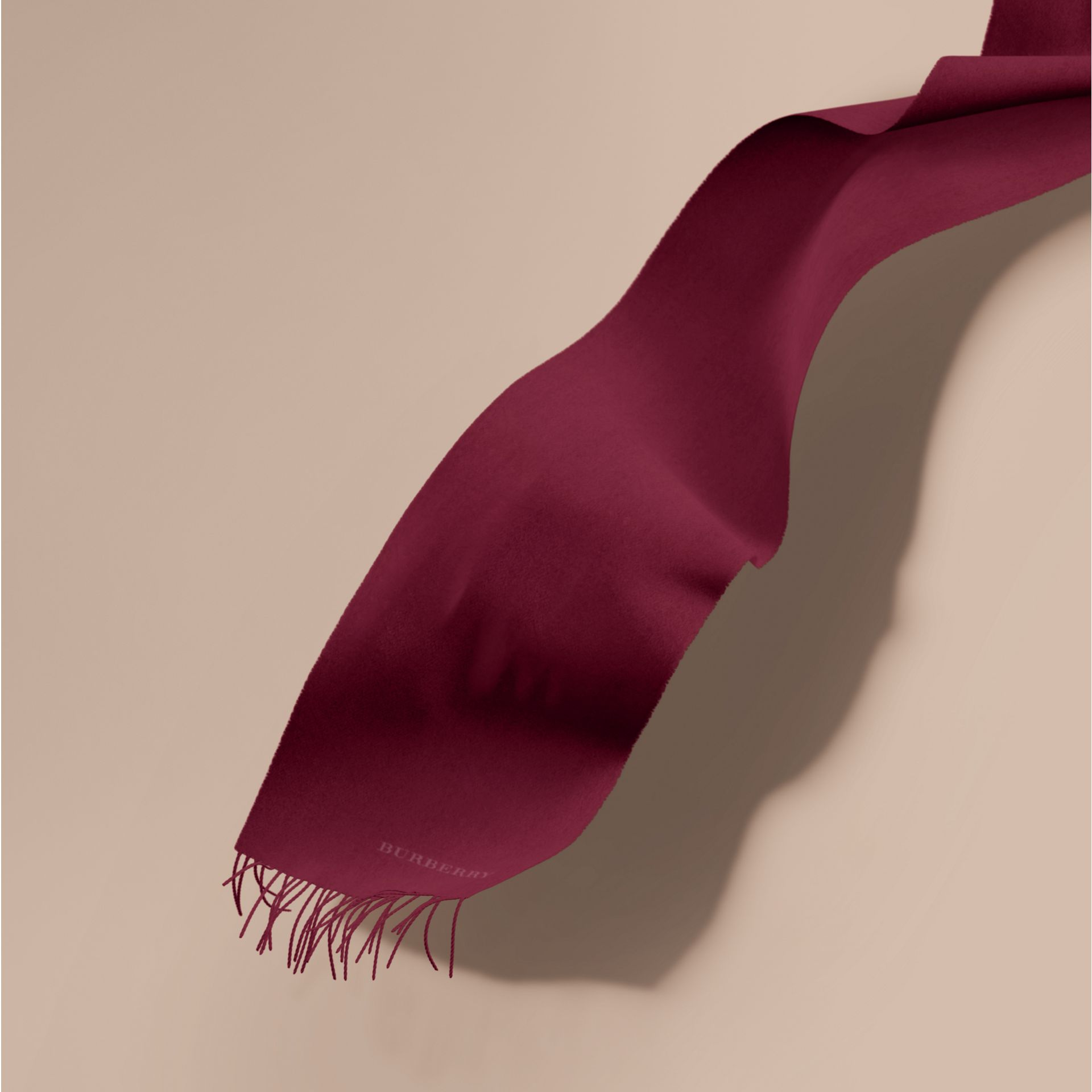 The Classic Cashmere Scarf in Plum | Burberry Australia - gallery image 1