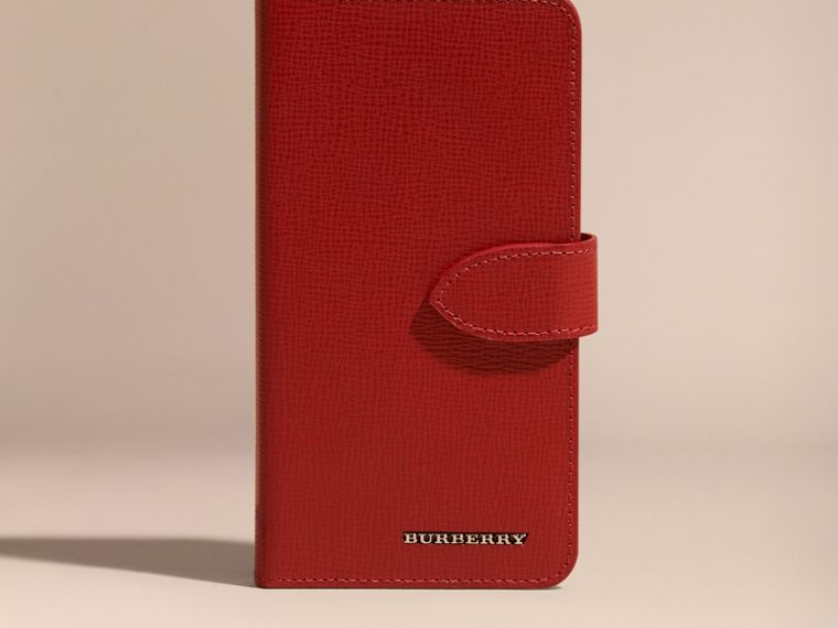 Rosso militare scuro Custodia a libro in pelle London per iPhone 6 - cell image 4