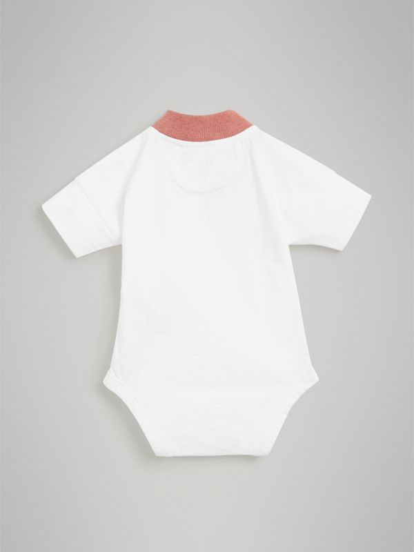 Equestrian Knight Print Cotton Bodysuit in Rose Pink - Children | Burberry Singapore - cell image 3