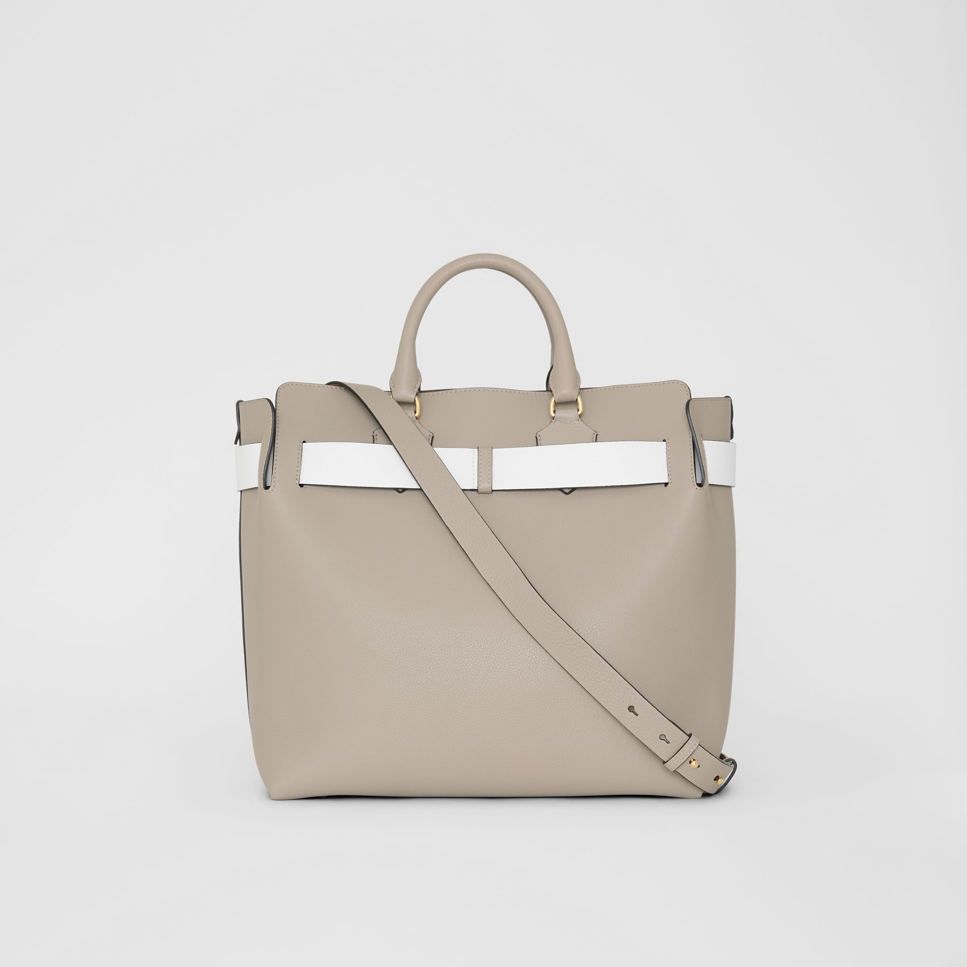 The Large Leather Belt Bag in Mineral Grey | Burberry - gallery image 9