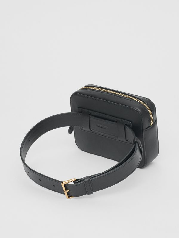 Vintage Check and Studded Leather Bum Bag in Black - Children | Burberry Hong Kong S.A.R - cell image 2